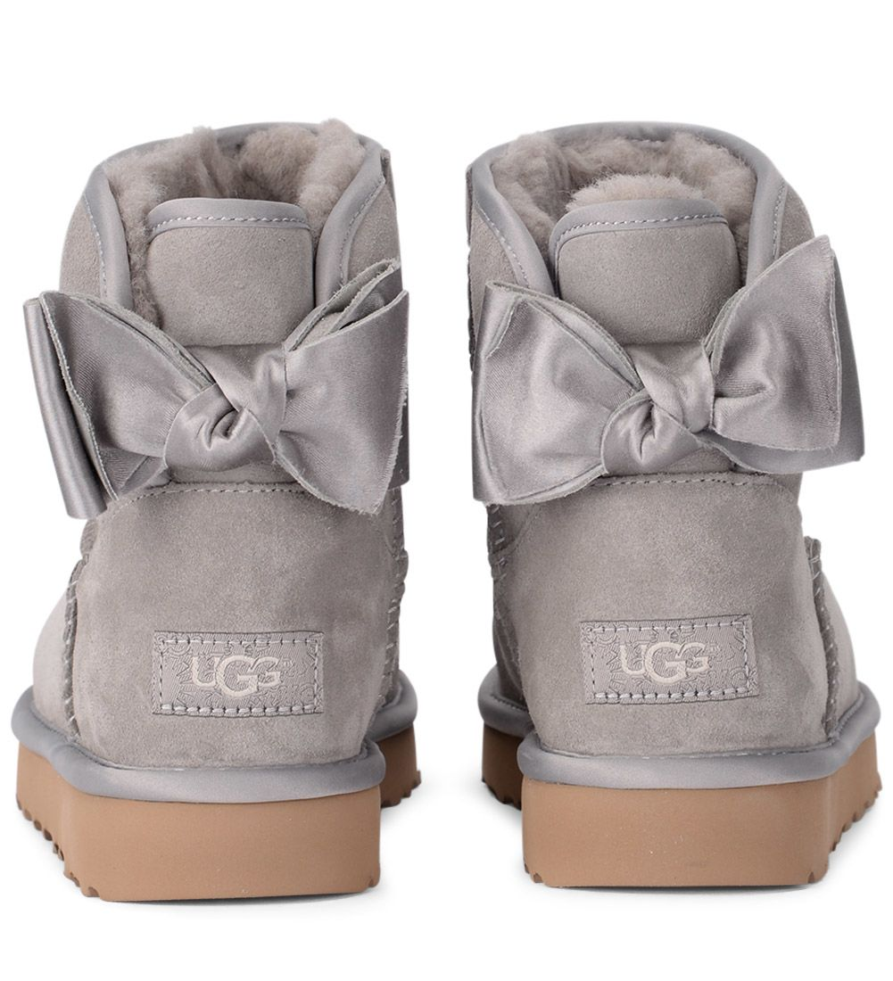 ugg mini bailey bow grigio