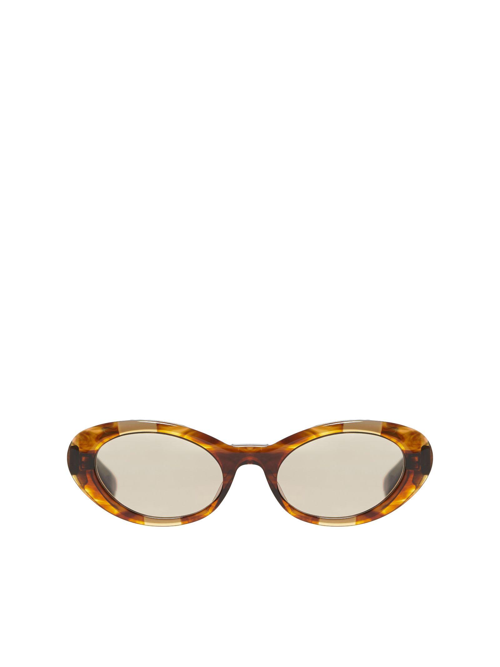 CHRISTIAN ROTH Cat Eye Sunglasses in Marrone