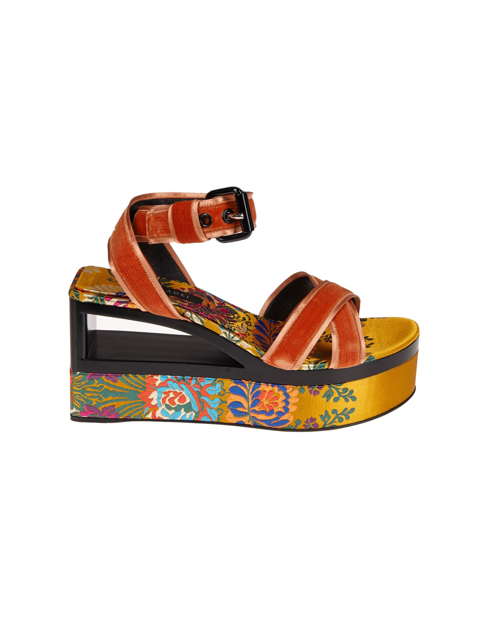 outlet locations sale online very cheap cheap online Casadei velvet wedge sandals free shipping how much new styles for sale 0cB6pfXVTJ