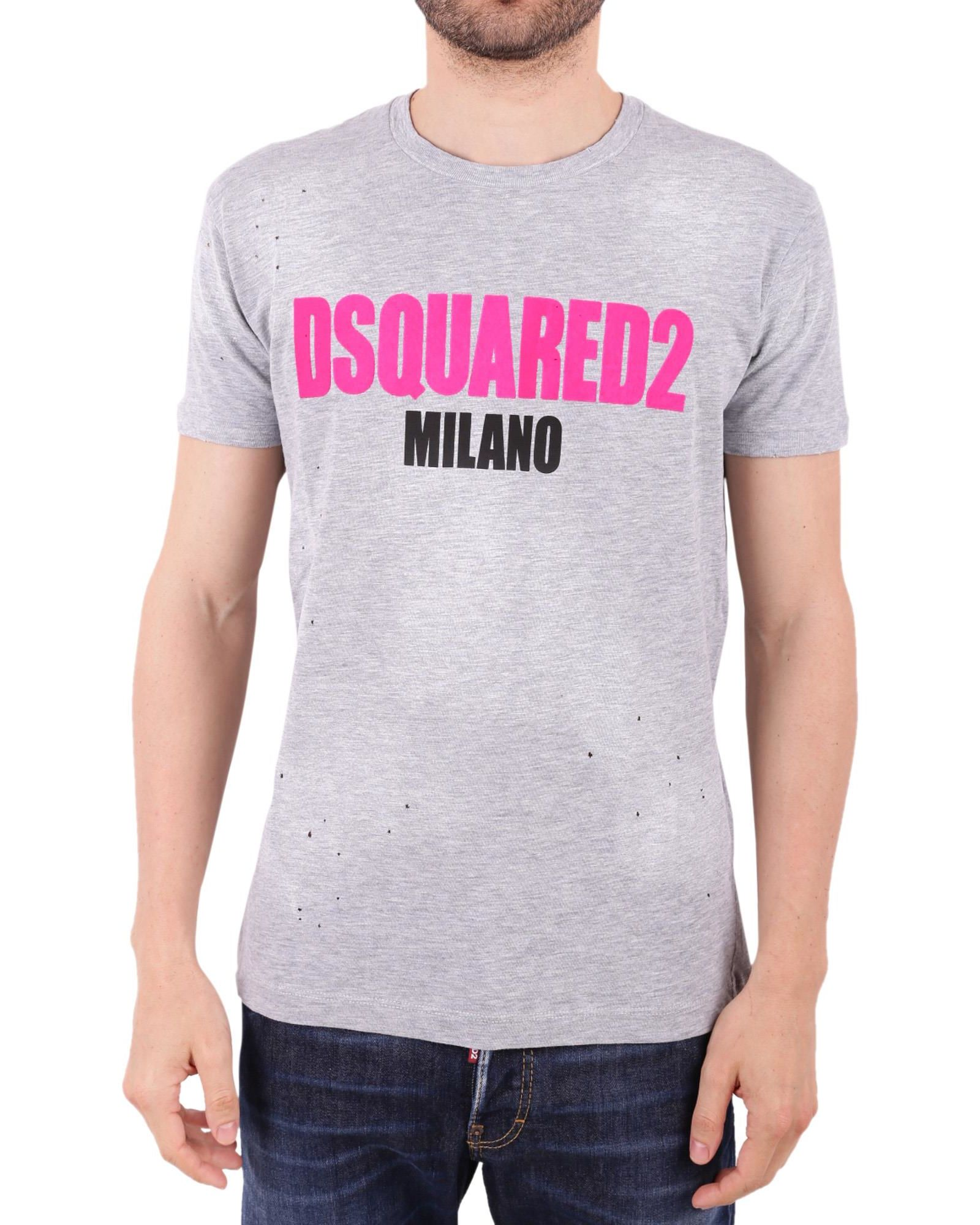 Cotton Blend T-shirt Fall/winter Dsquared2 gQy0Fqoc
