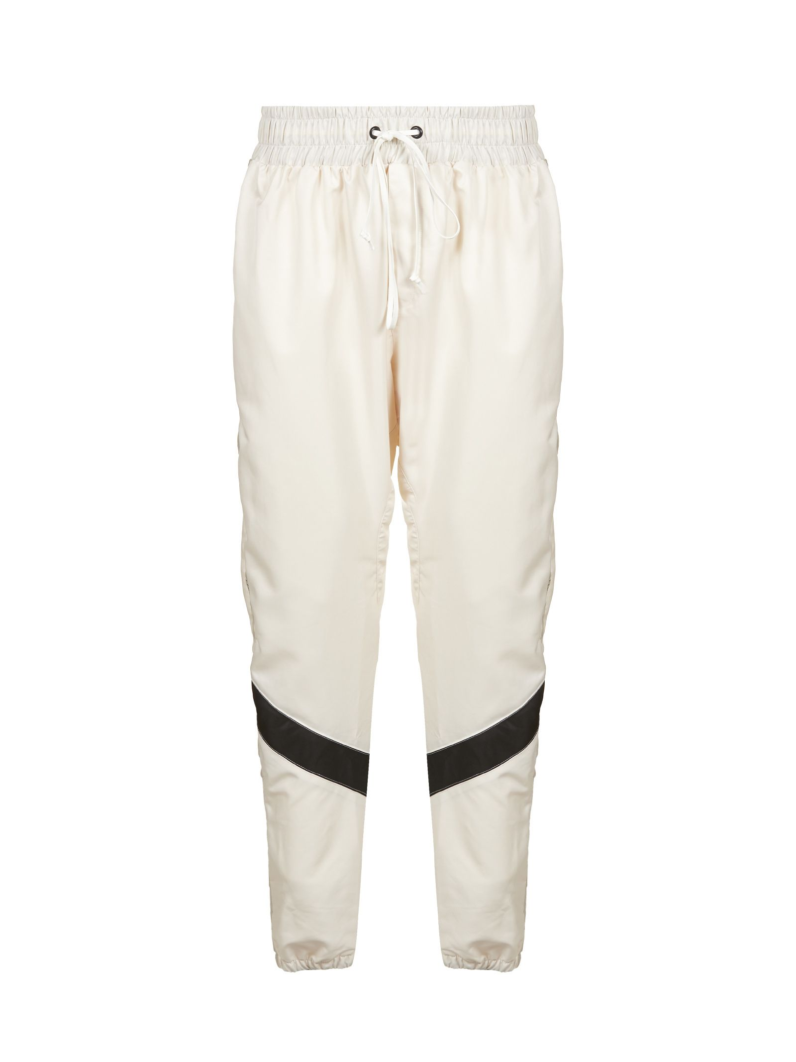 DANIEL PATRICK Drawstring Trousers in Ivory Black
