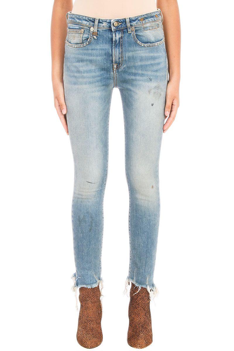 R13 Jenny Frayed-hem Skinny Jeans 7864447