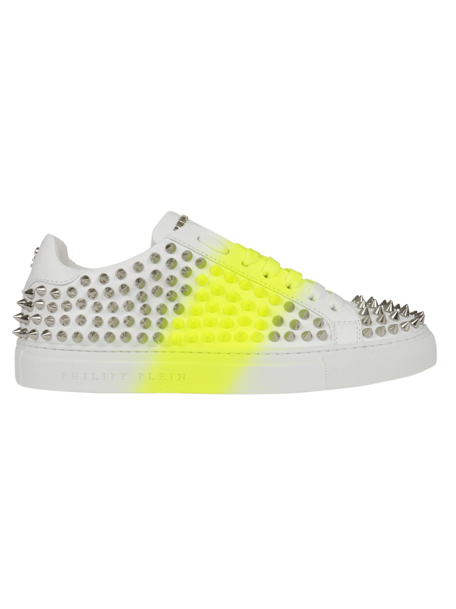 studded platform sneakers - White Philipp Plein