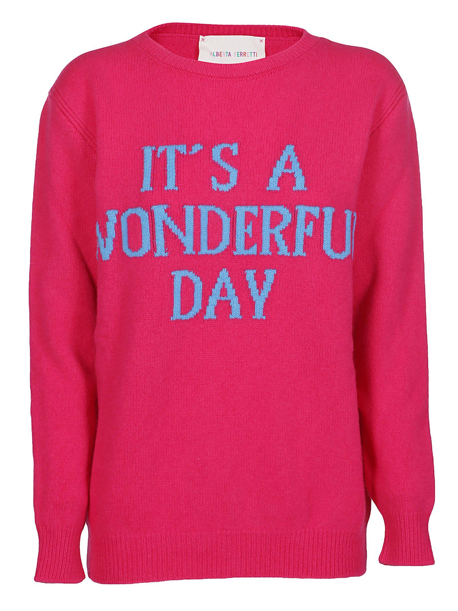 Alberta Ferretti Sweaters IT'S A WONDERFUL DAY SWEATER