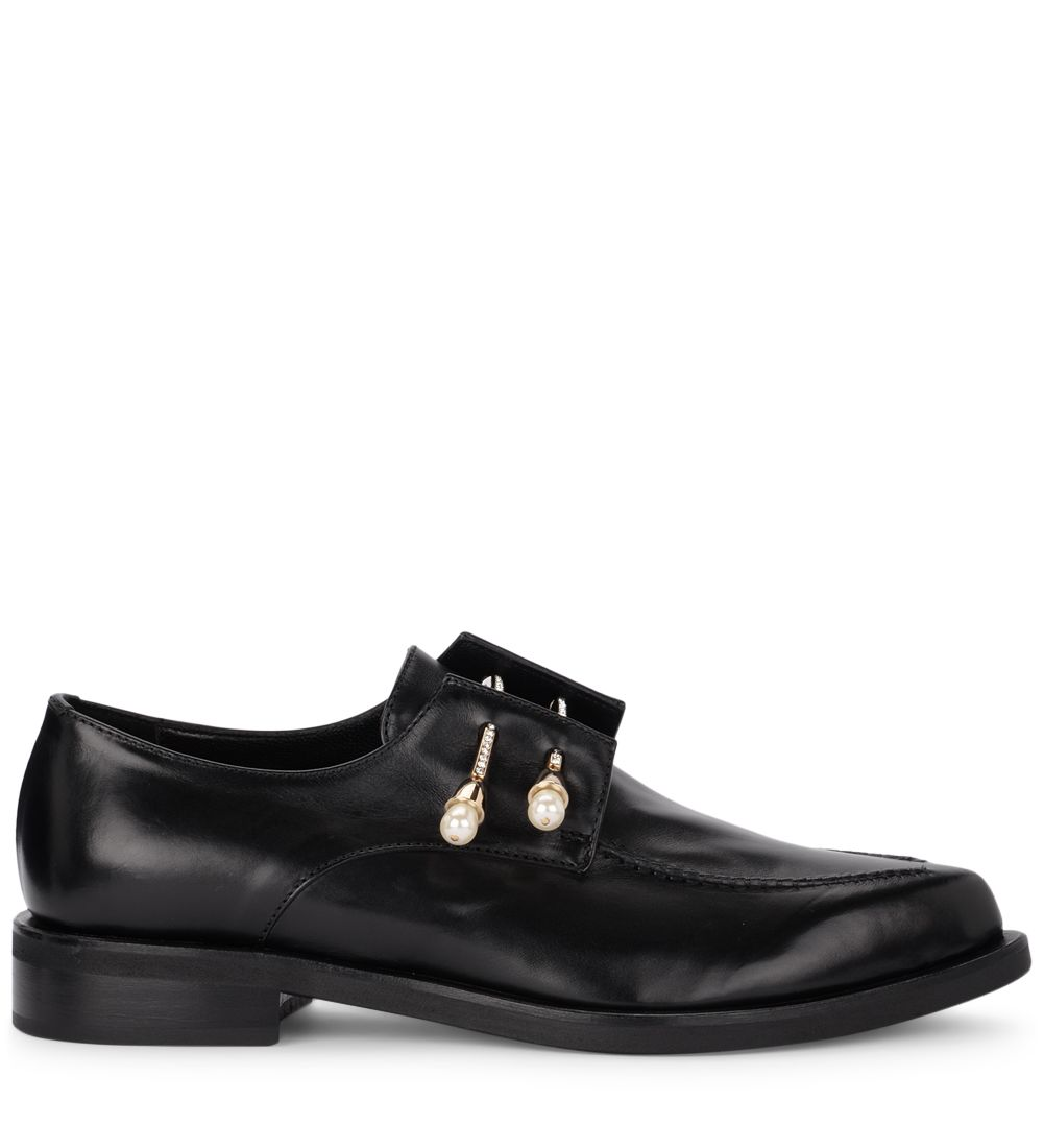 Jack Black Leather Derby Coliac With Jewel Pins.