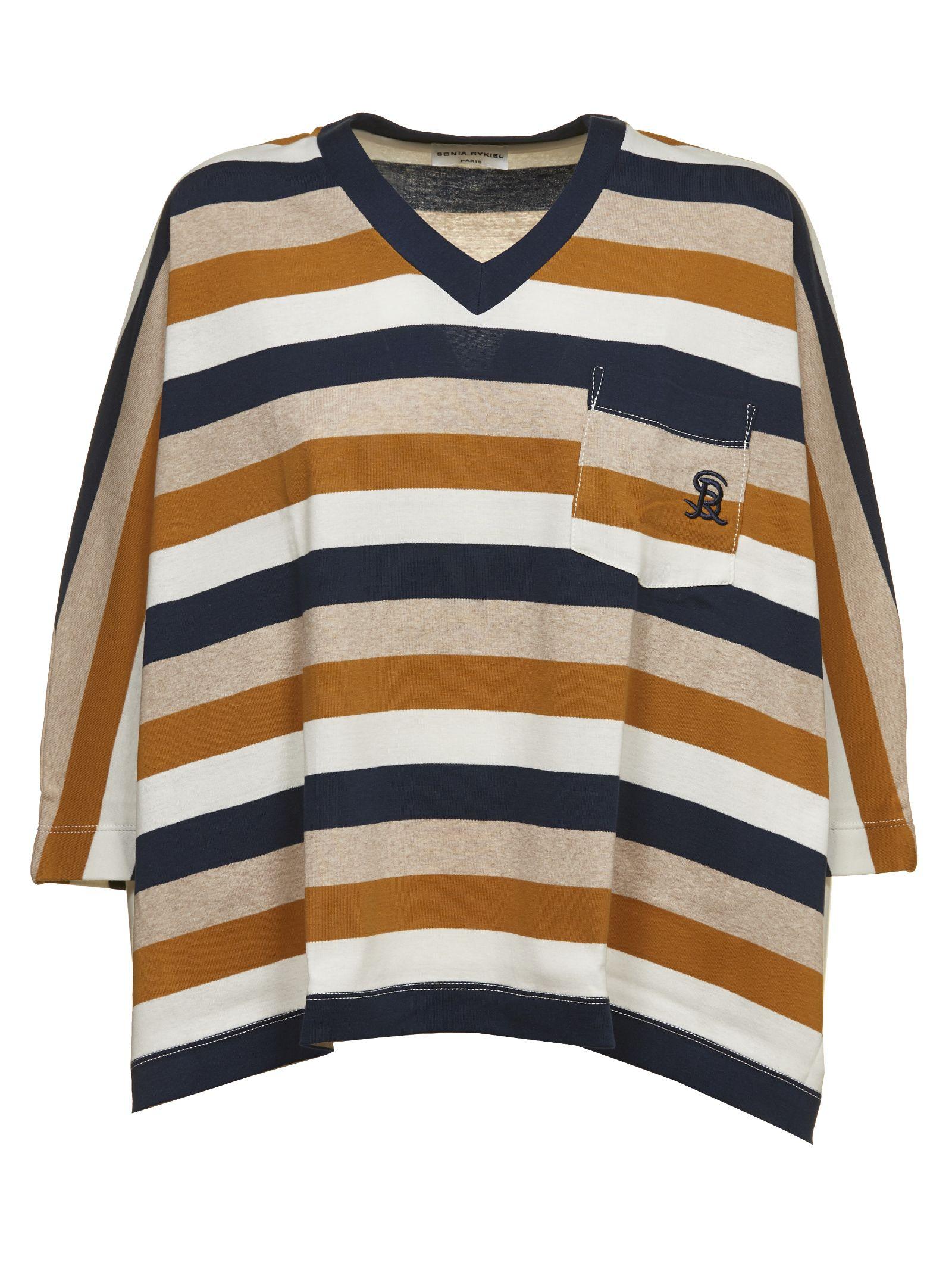 SONIA BY SONIA RYKIEL Sonia By Sonia Rykiel Striped T-Shirt in Multicolor