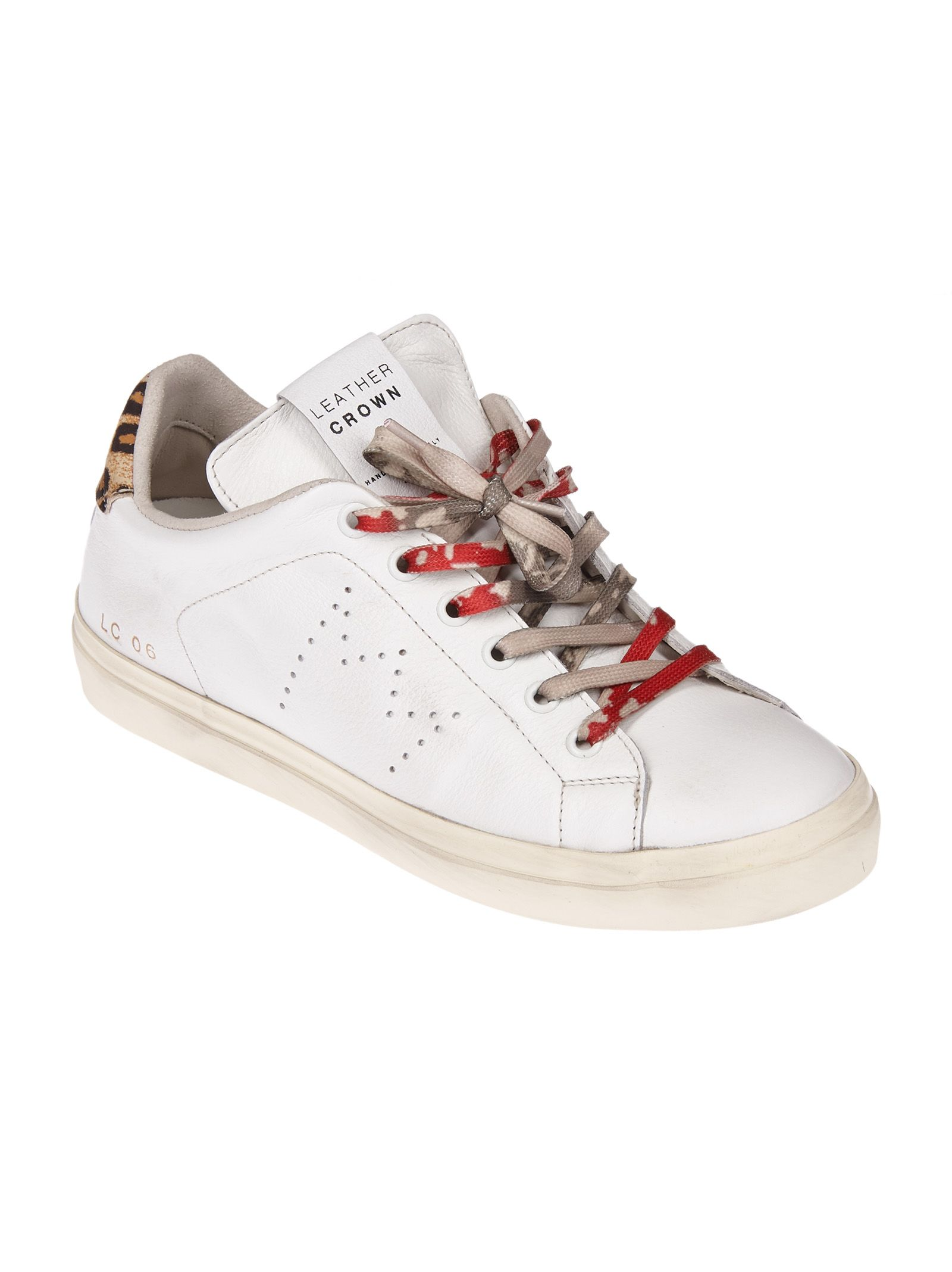 Leather Crown Leopard Print Sneaker Buy Cheap Recommend Sale Looking For j0LUH