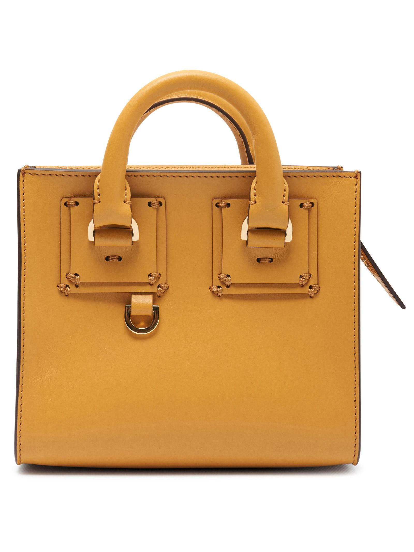 Sophie Hulme Albion Box Tote Bag In Senape  50129947a0b9c