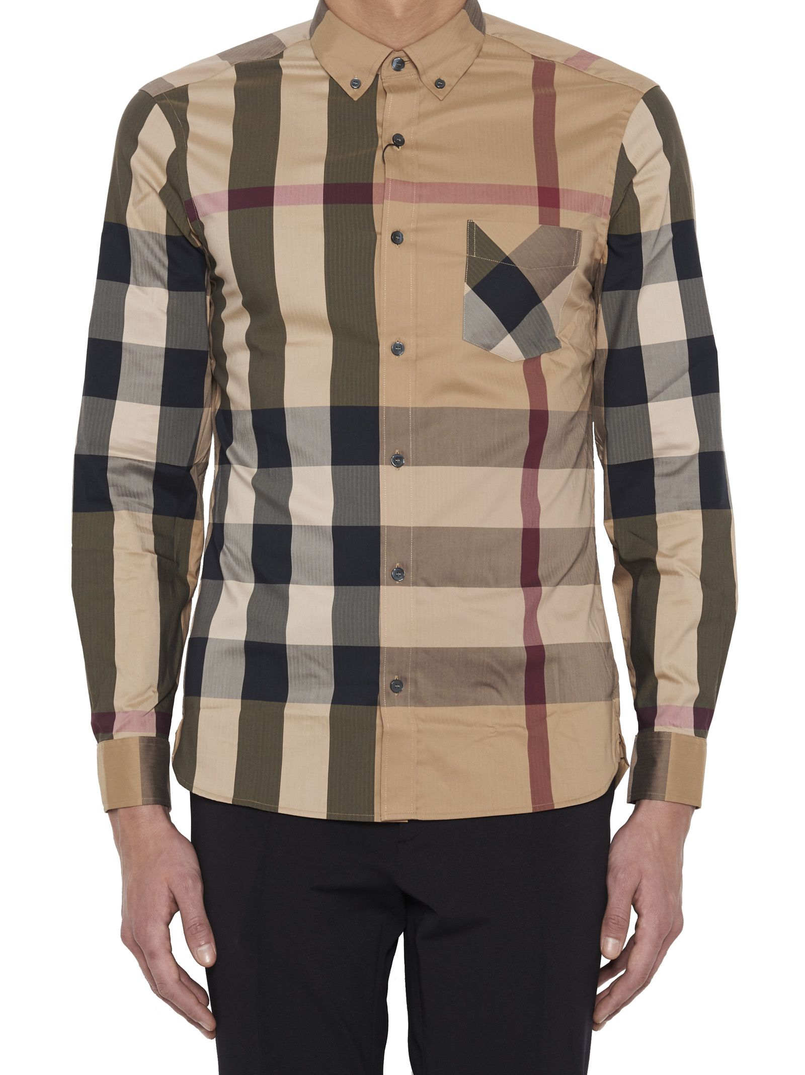 Beige Burberry Shirt