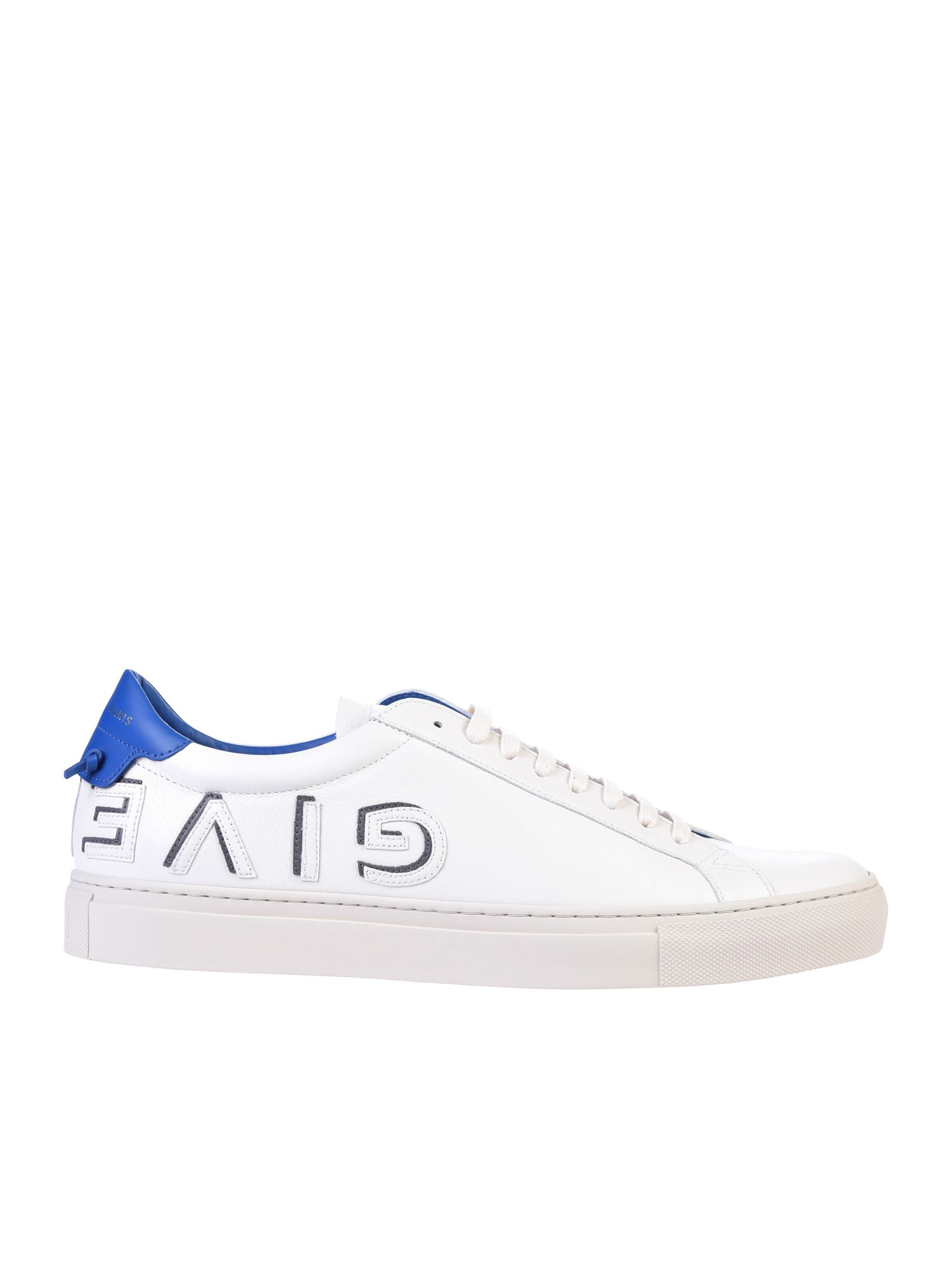 GIVENCHY LOGO PATCH LEATHER SNEAKERS