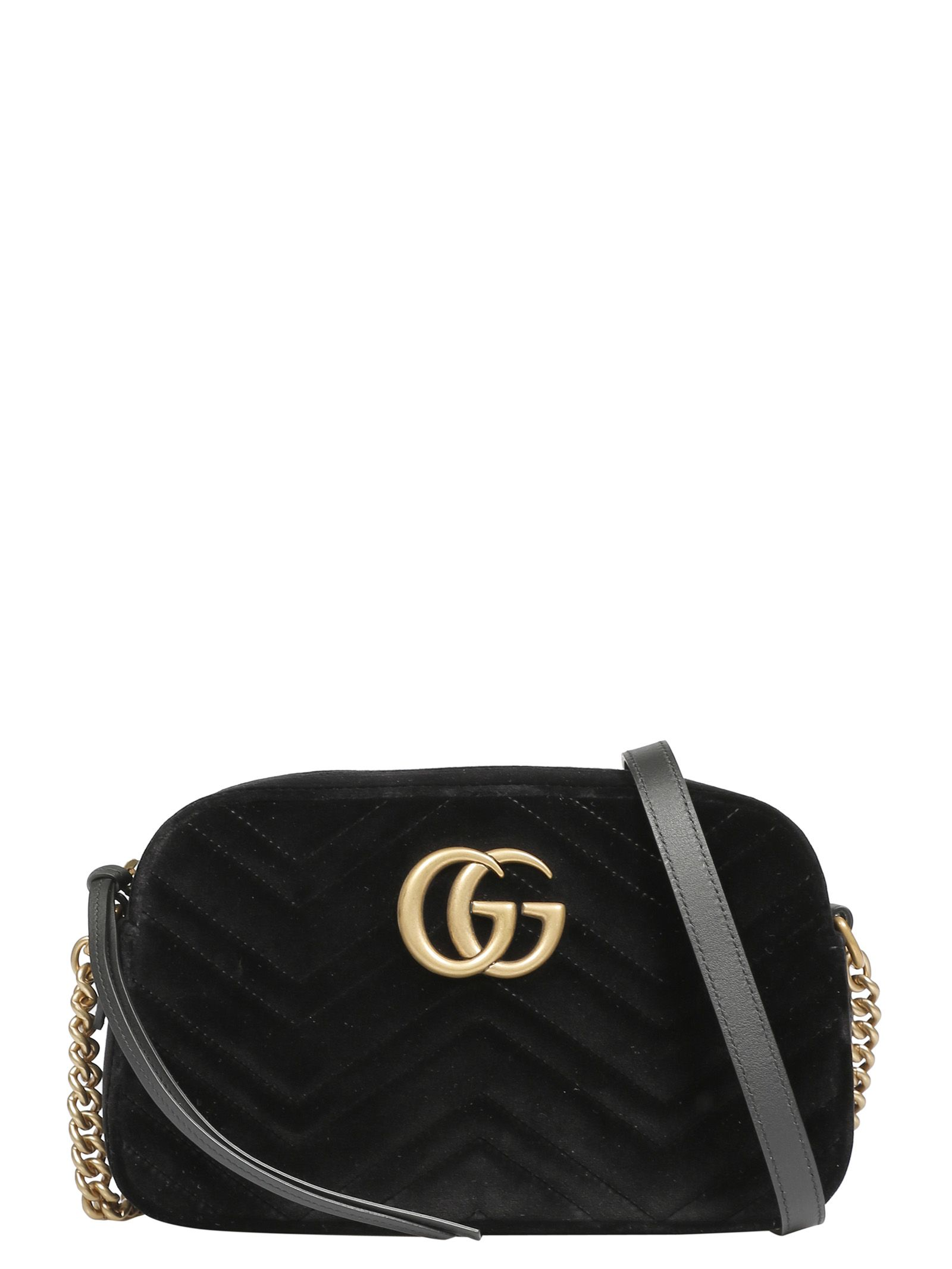 cf358ab322f1 Gucci Gg Marmont Leather-trimmed Quilted Velvet Bucket Bag ...