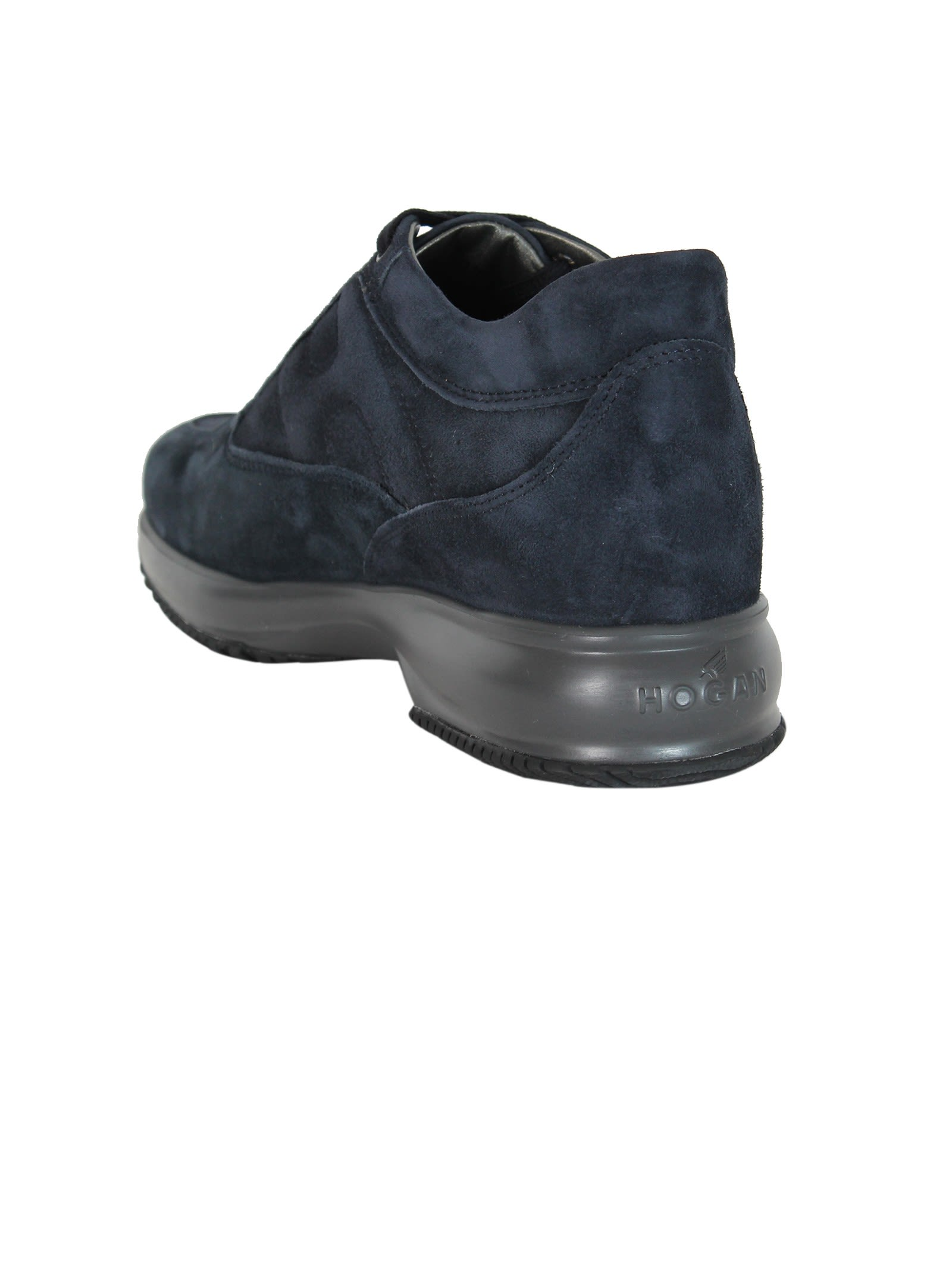 Blue suede Interactive sneakers Hogan riuNW6BYF