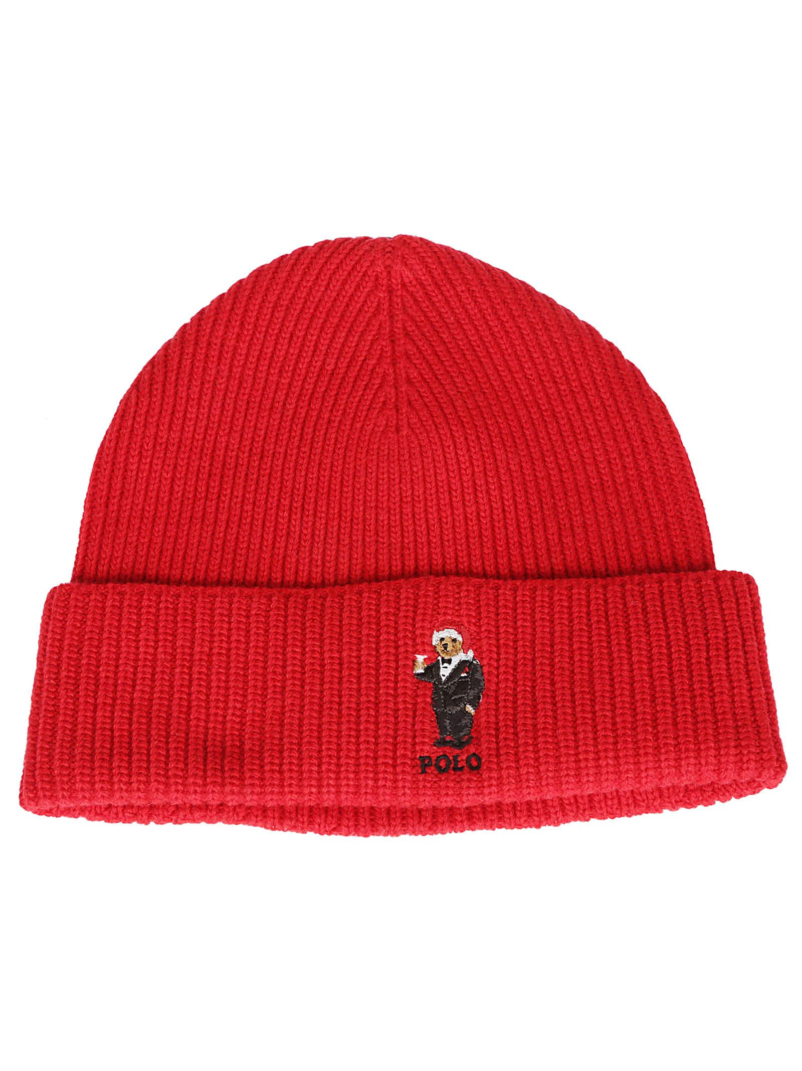 Polo Ralph Lauren Santa Bear Beanie In Red  2603c77283d