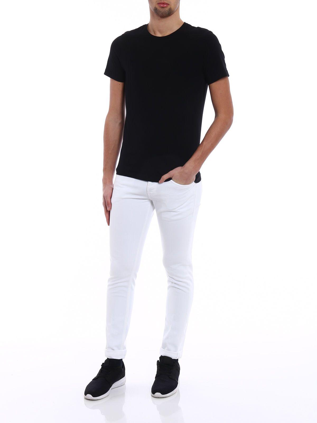 Pantalons Pour Les Hommes En Vente, Beige, Coton, 2017, 32 Dondup