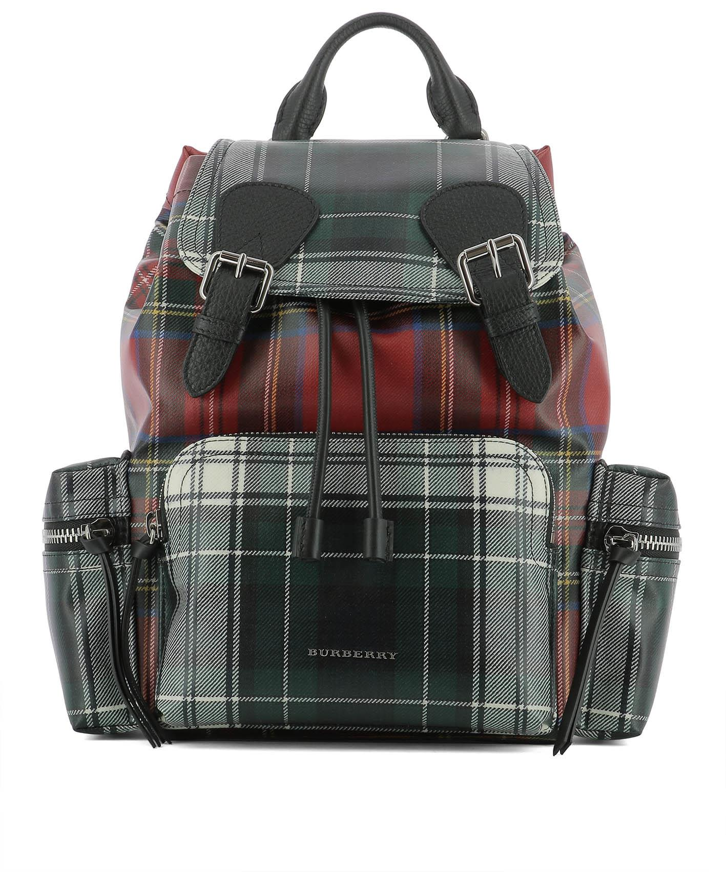 1bdc7b469011 BURBERRY MULTICOLOR LEATHER BACKPACK