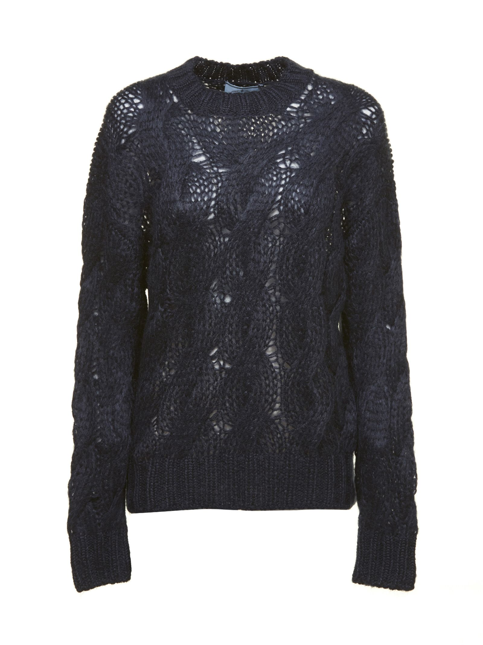 Prada Linea Rossa Cable Open Knit Jumper