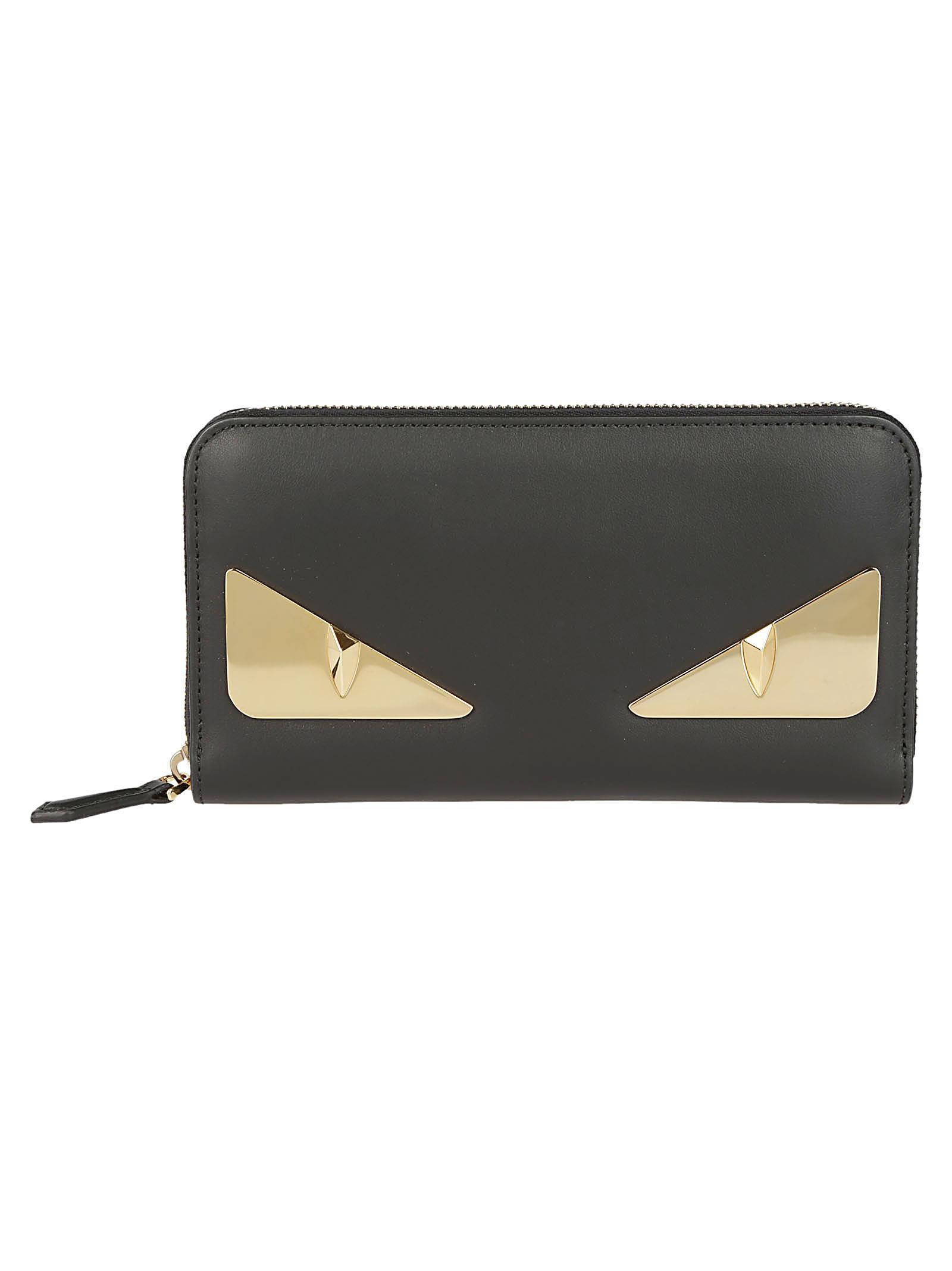 Fendi Wallets BAG BUGS ZIP AROUND WALLET