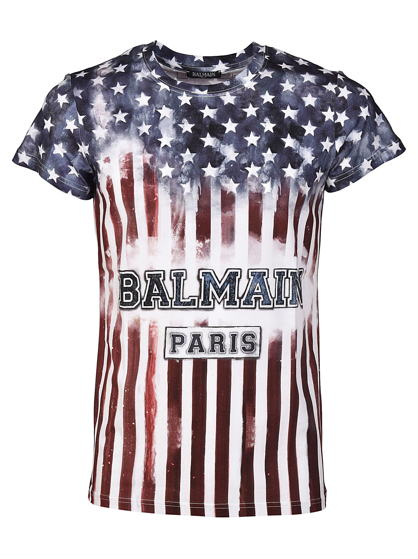 American Flag t-shirt Balmain Sale Marketable Perfect Cheap Online Cheap Visit New YTCZdT