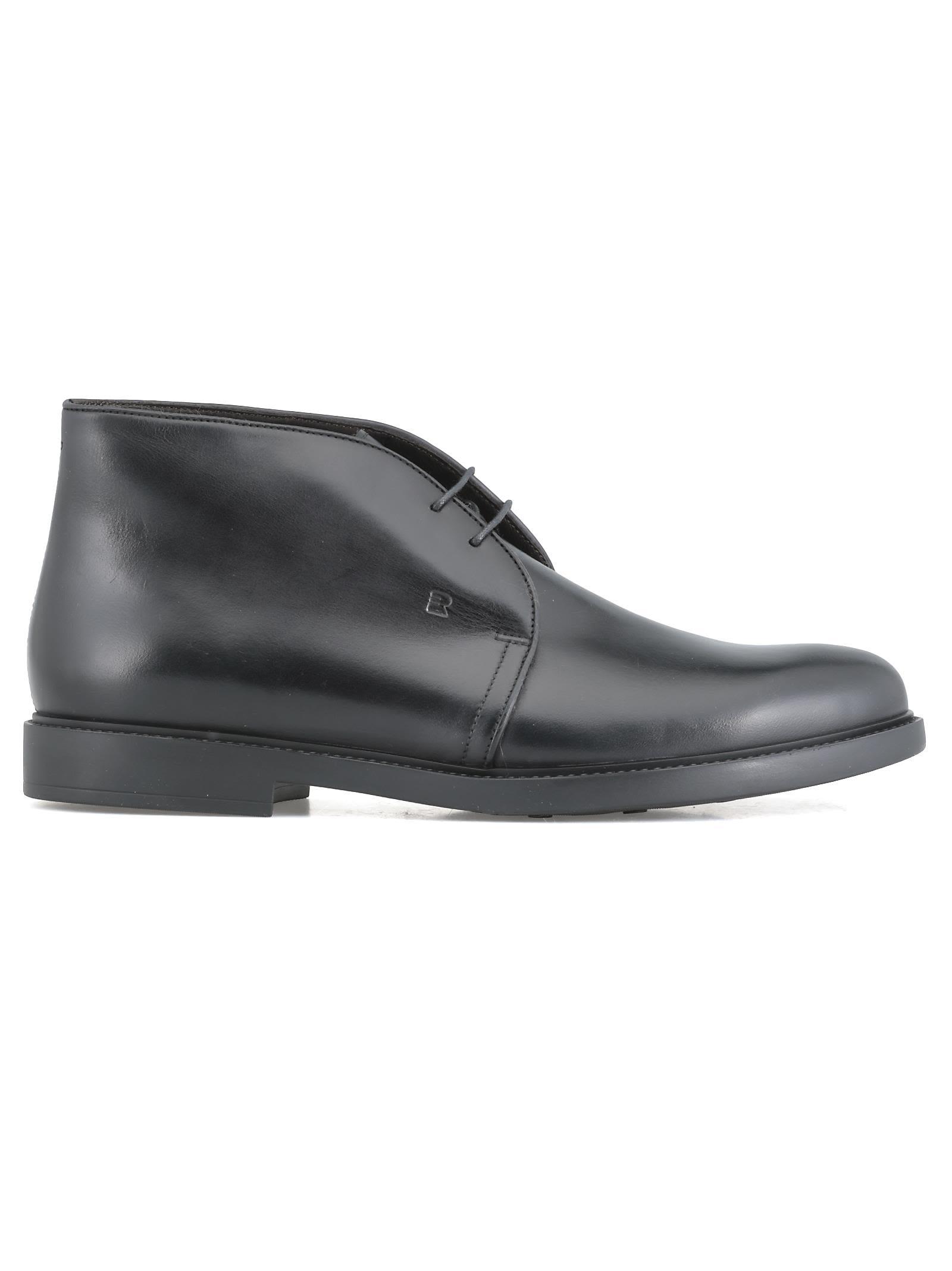 FRATELLI ROSSETTI Leather Desert Boot in Black