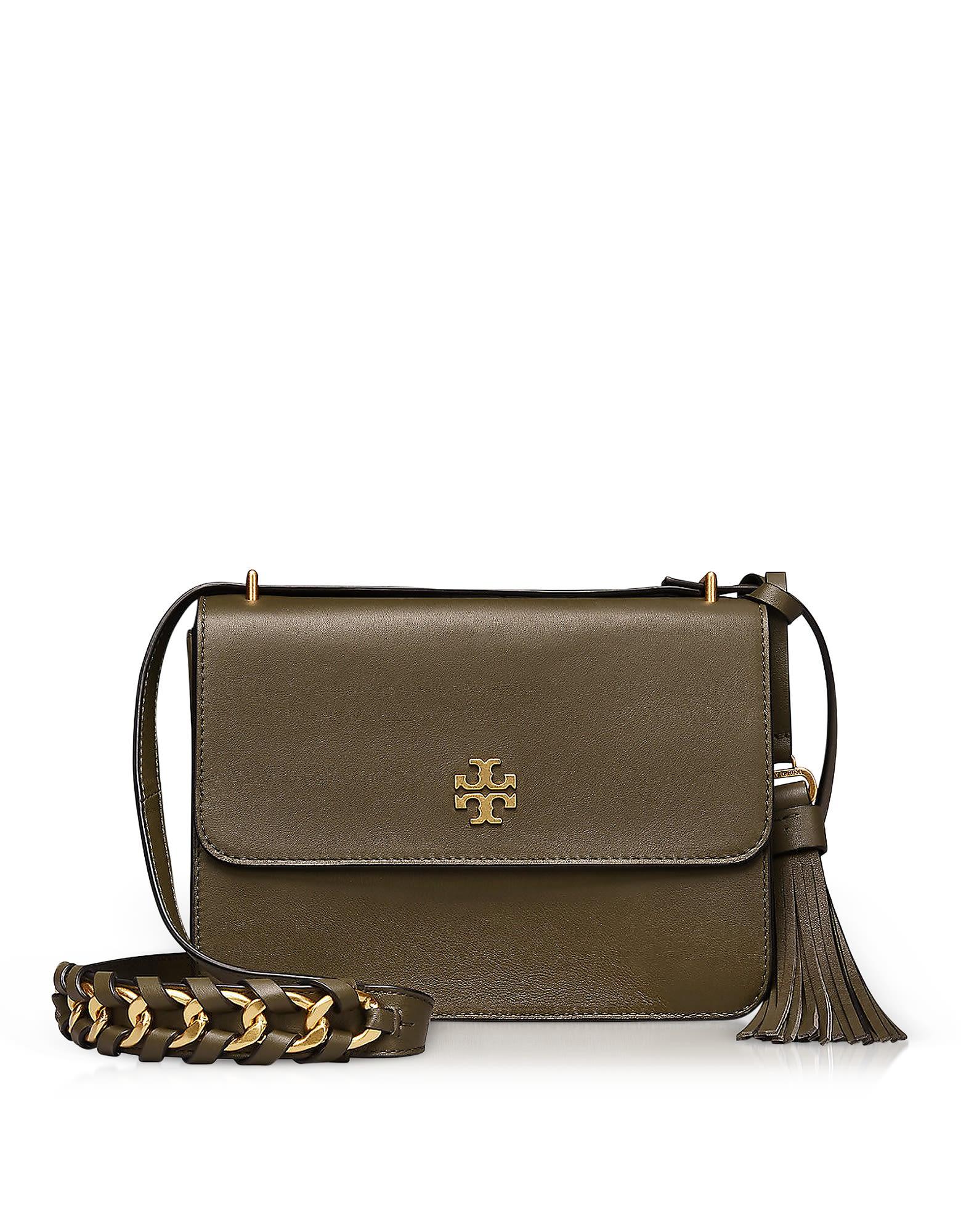 edc7246fad2f Tory Burch Brooke Leccio Leather Shoulder Bag In Green
