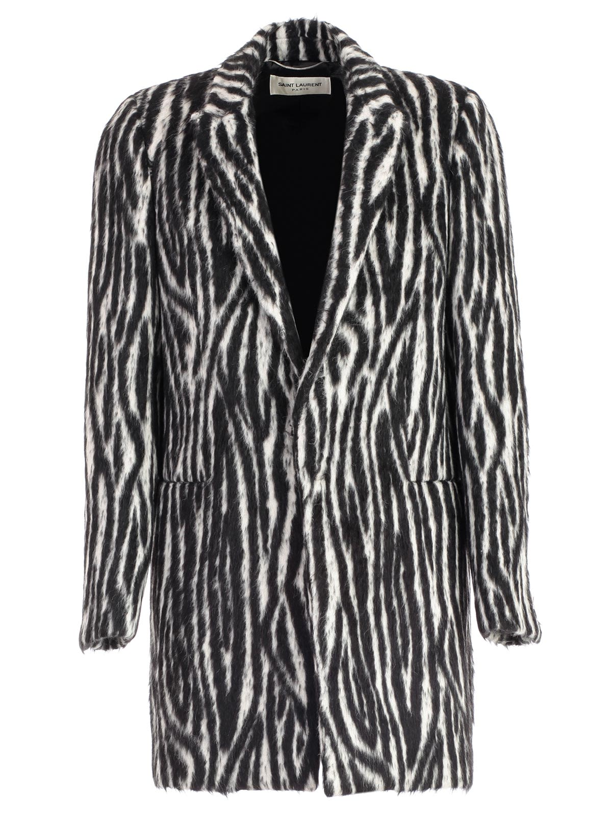 SAINT LAURENT SINGLE-BREASTED FUR COAT