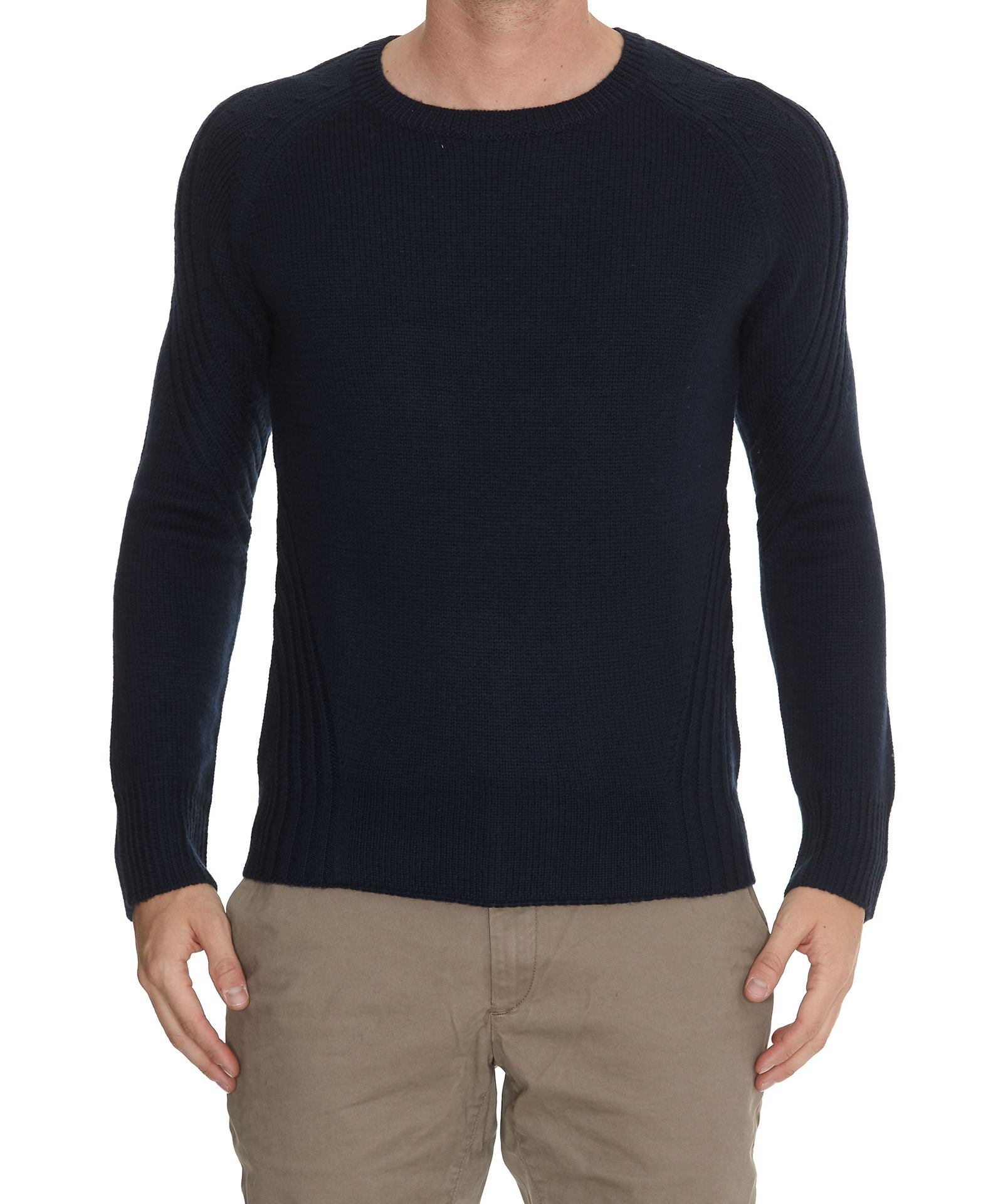 HŌSIO Crew Neck Jumper in Blue