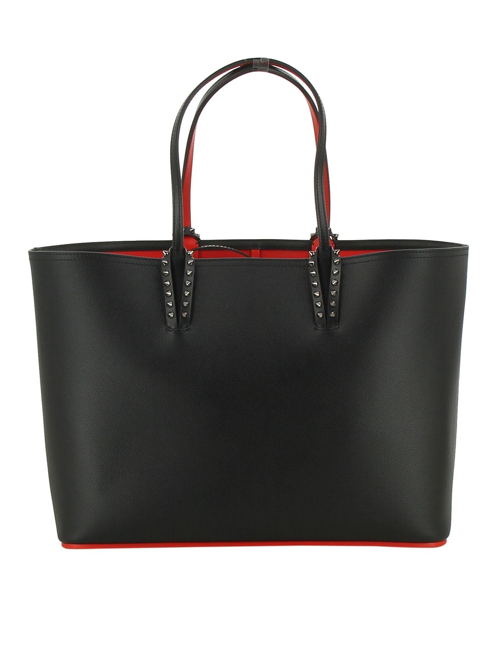 Christian Louboutin Black Leather Tote