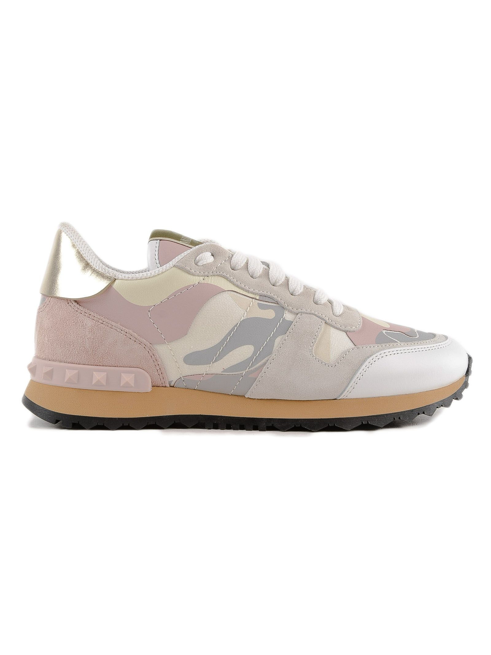 Camouflage Sneakers, H7M L.Ivory/W.Rose/P.Grey