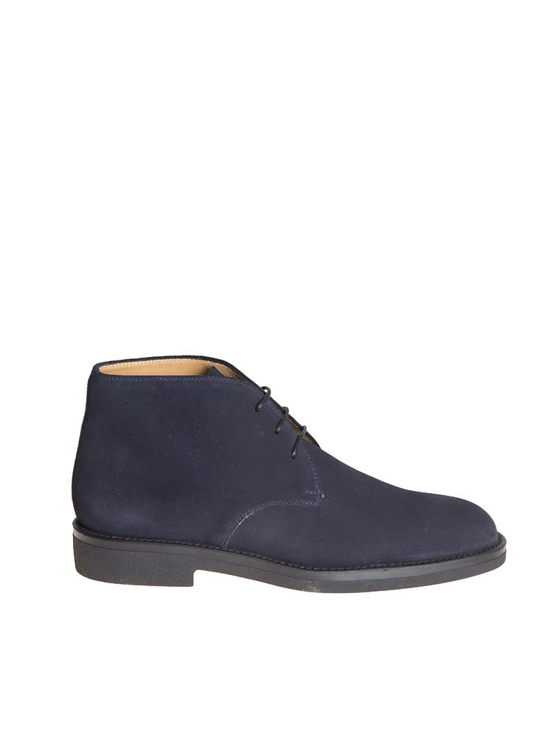 BARRETT Classic Lace Up Shoes in Blue