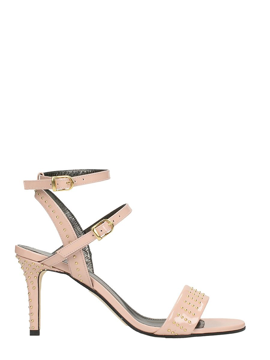 MARC ELLIS Shiny Pink Leather Sandals The Cheapest 8aSfQs4