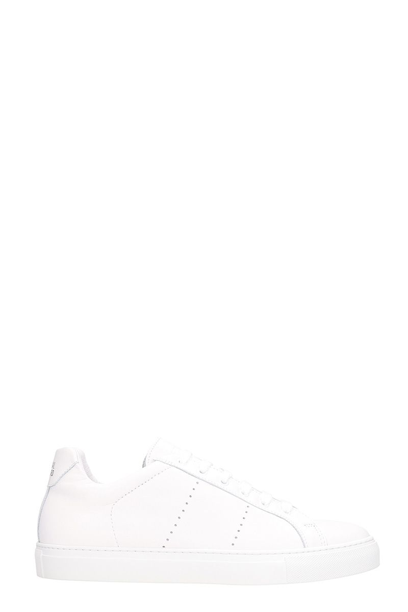 NATIONAL STANDARD Edition 4 White Leather Sneakers