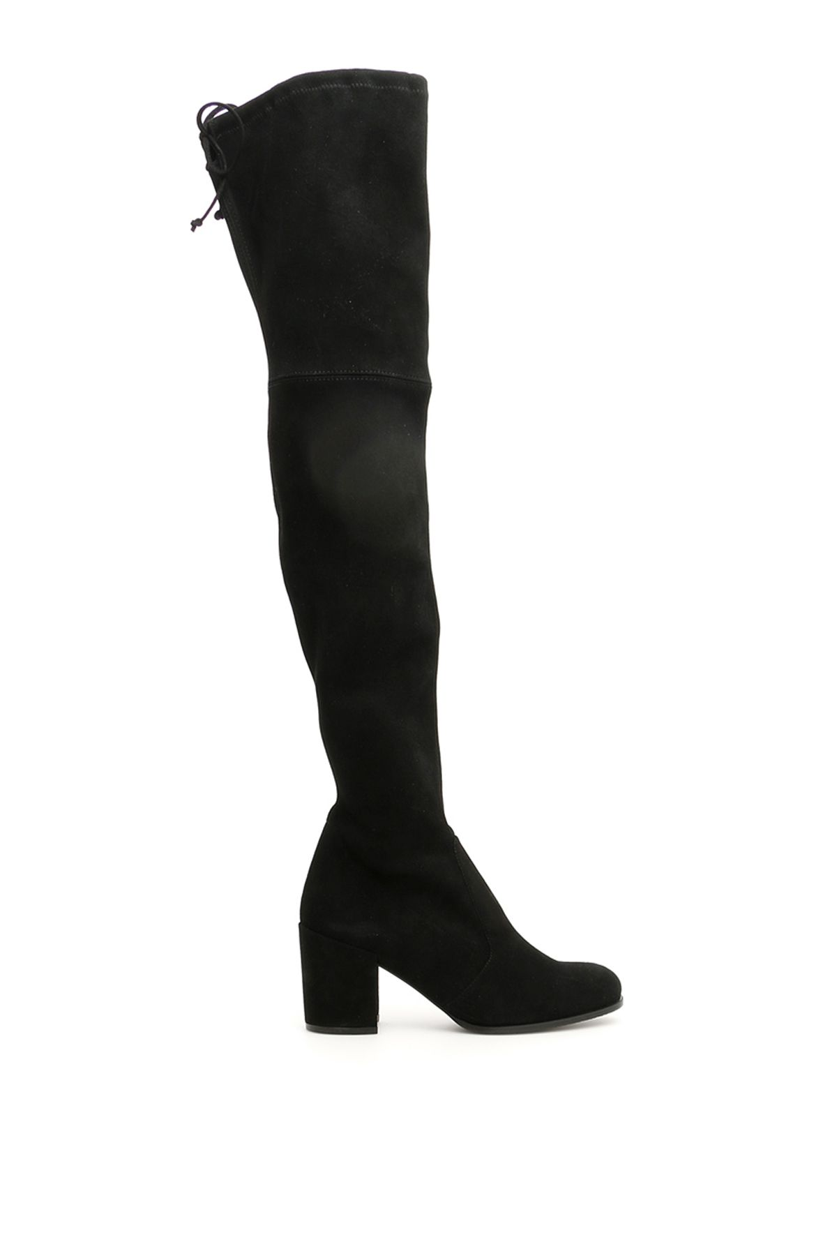 Suede Tieland Boots in Black