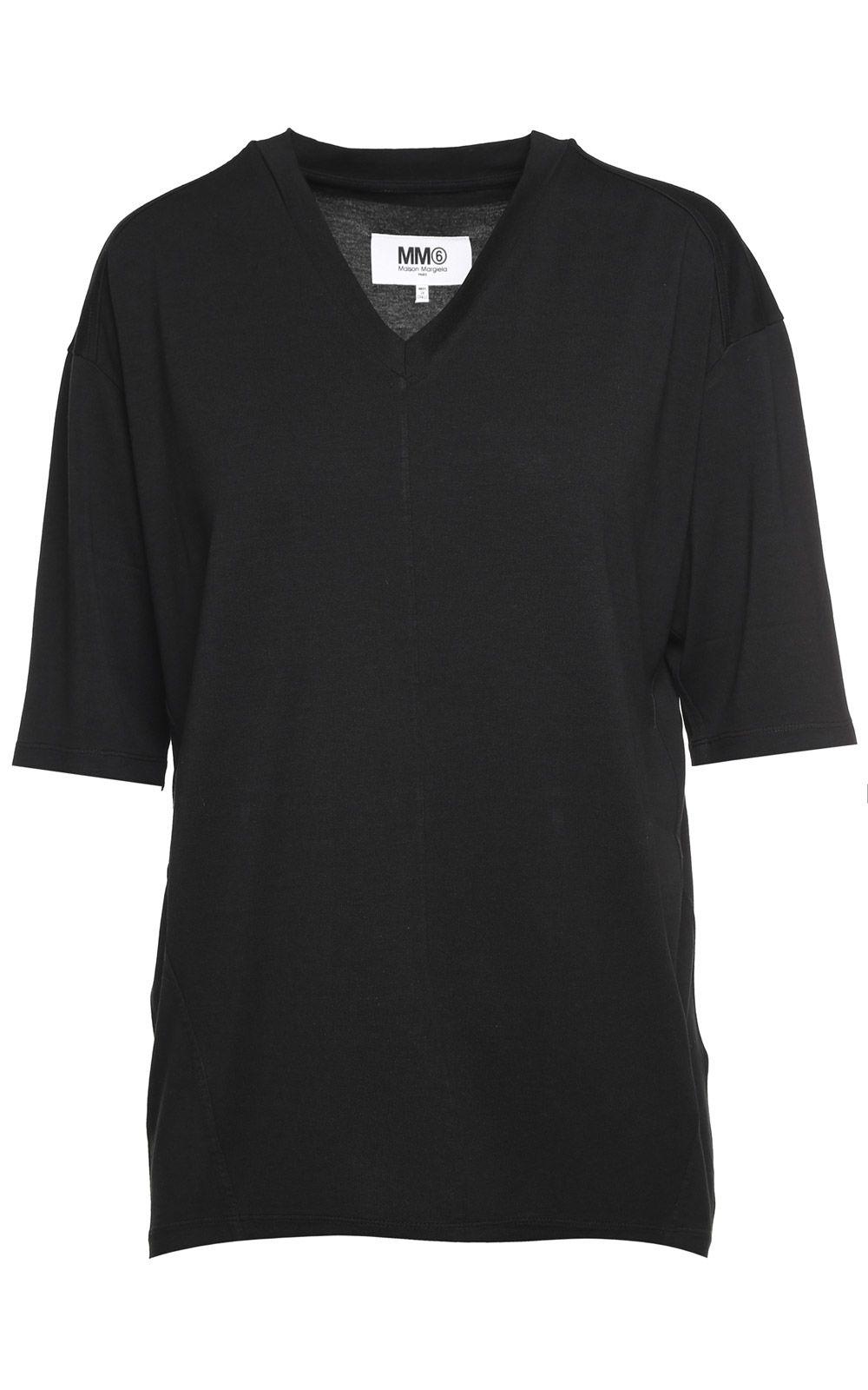 MM6 Maison Margiela V-neck Viscose T-shirt