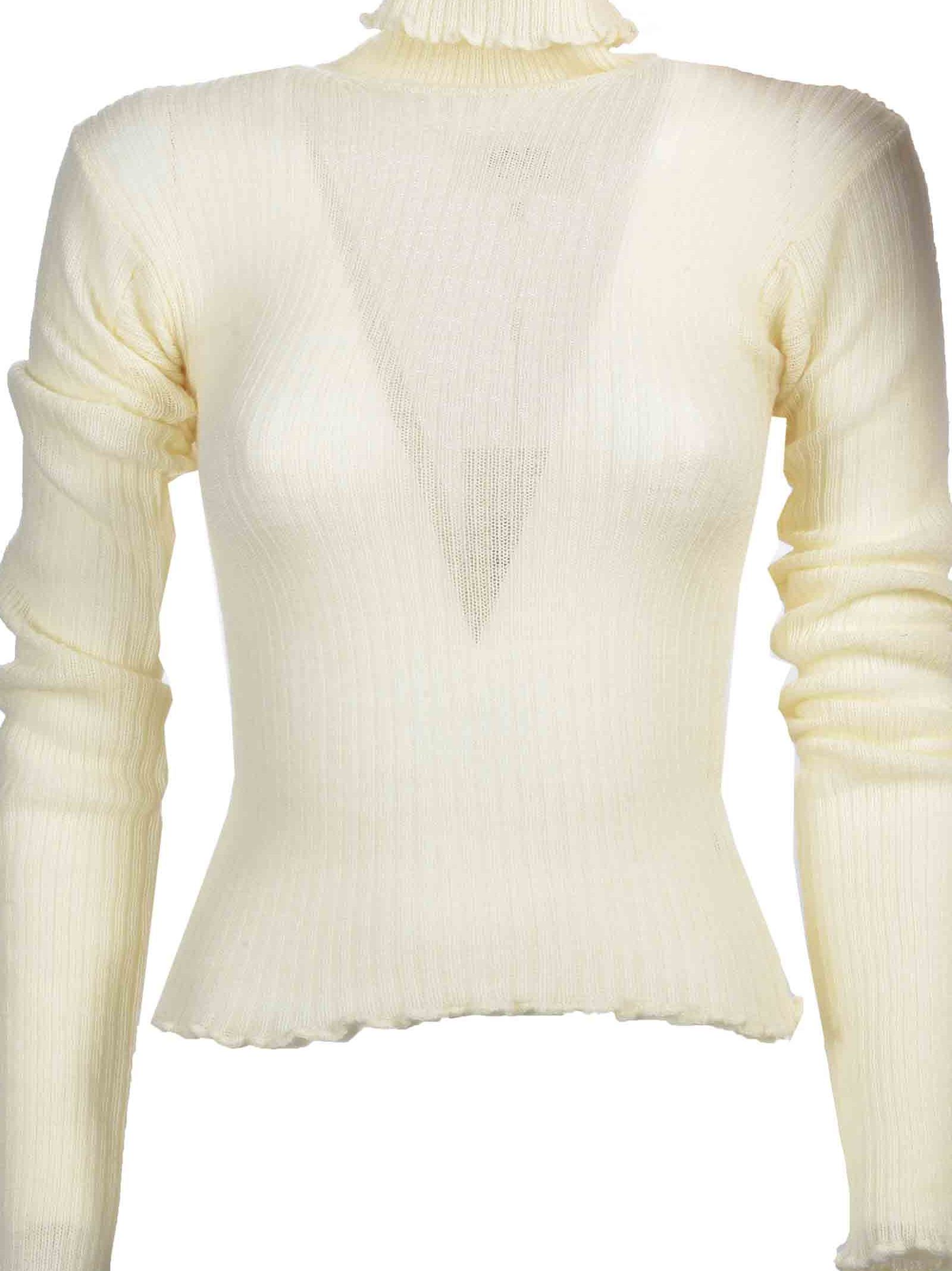 Mm6 Rib Turtle Neck Sweater