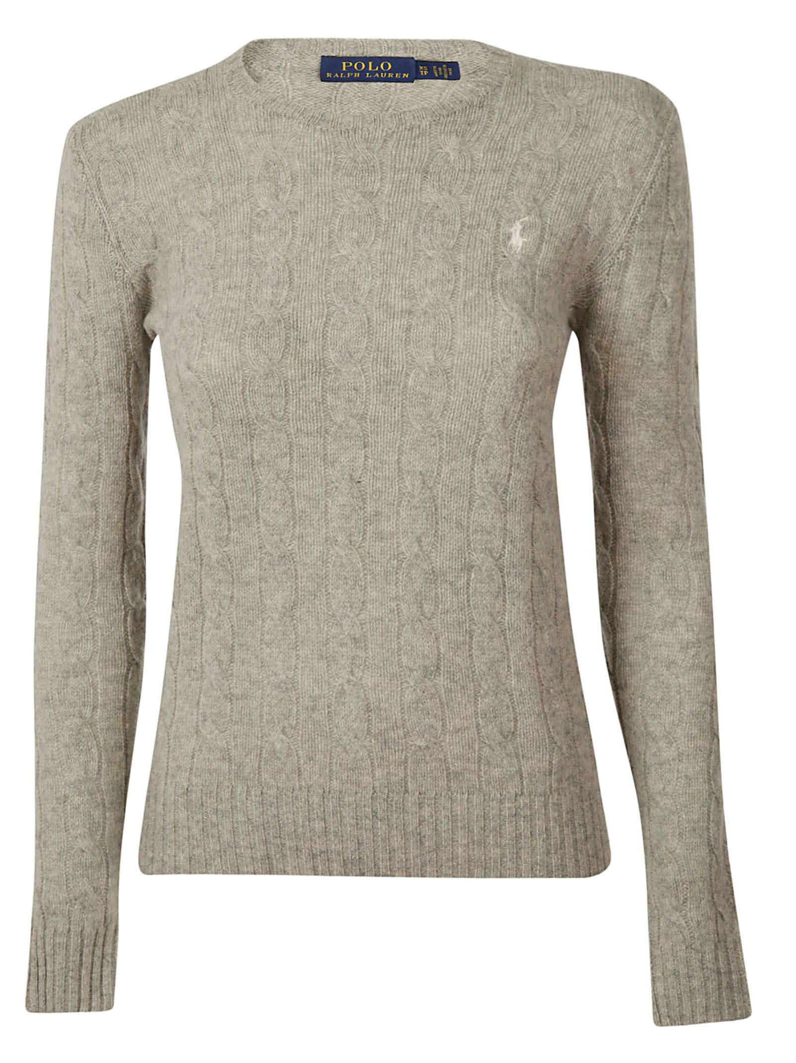 Polo Ralph Lauren Logo Cable Knit Sweater In 038 Modesens