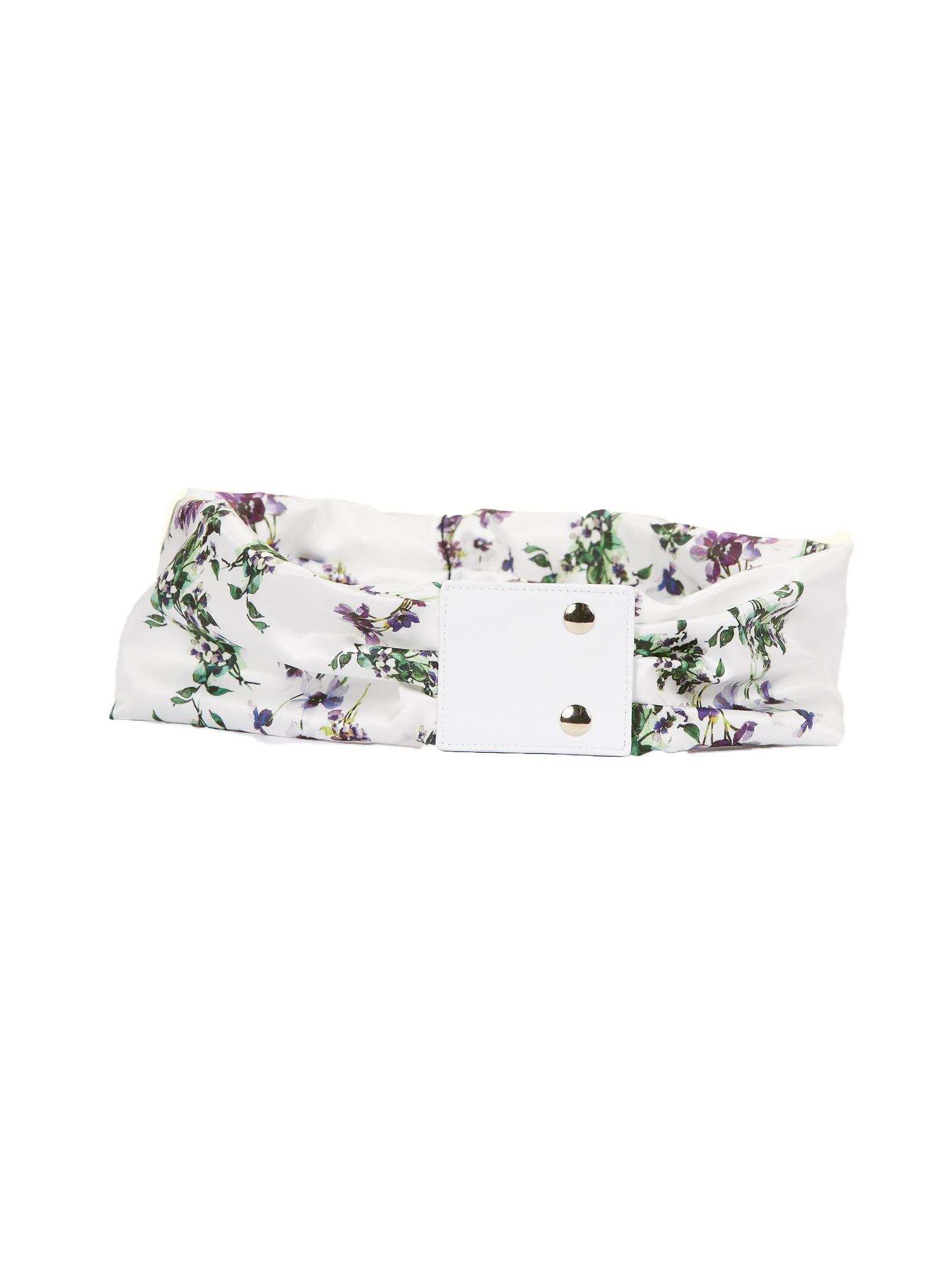 White floral belt Blumarine x3s3pn30