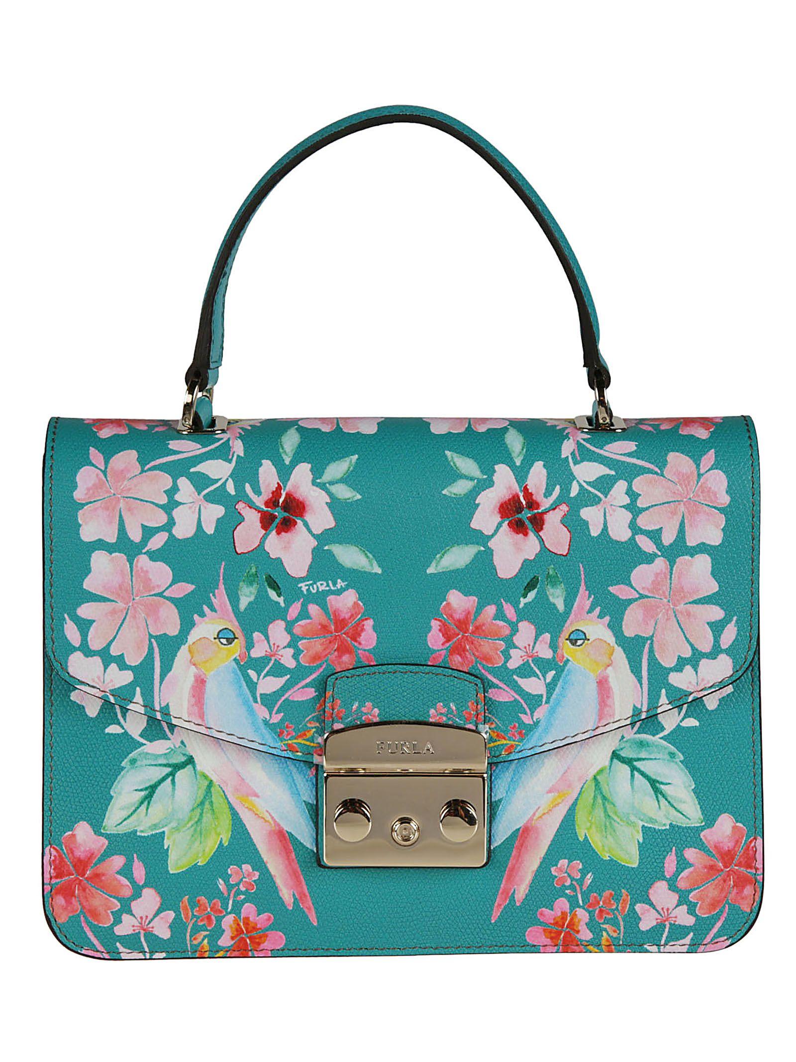 Furla Metropolis Bird Floral Shoulder Bag