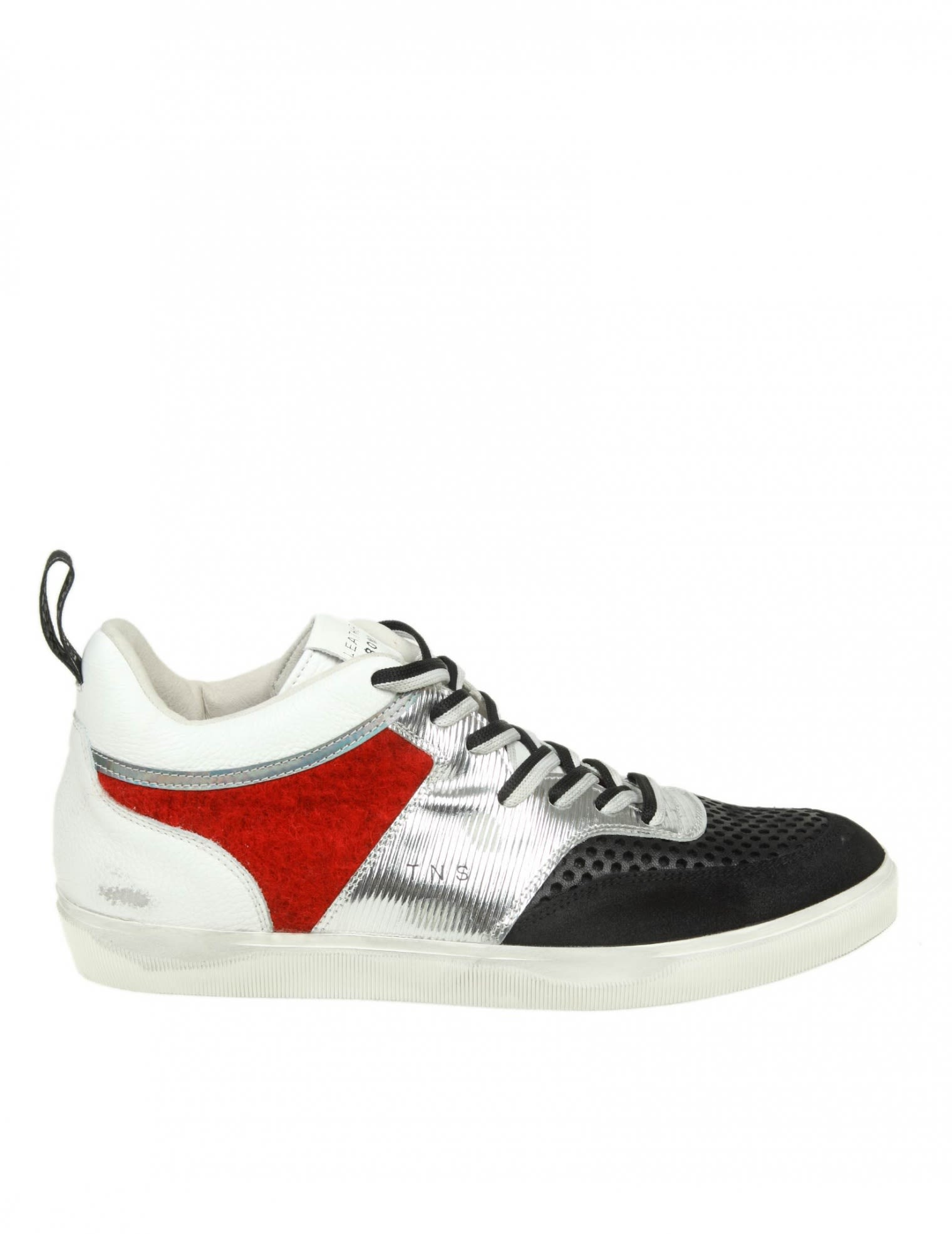 LEATHER CROWN SNEAKERS IN LEATHER WITH DETAILS IN SUEDE AND WOOL