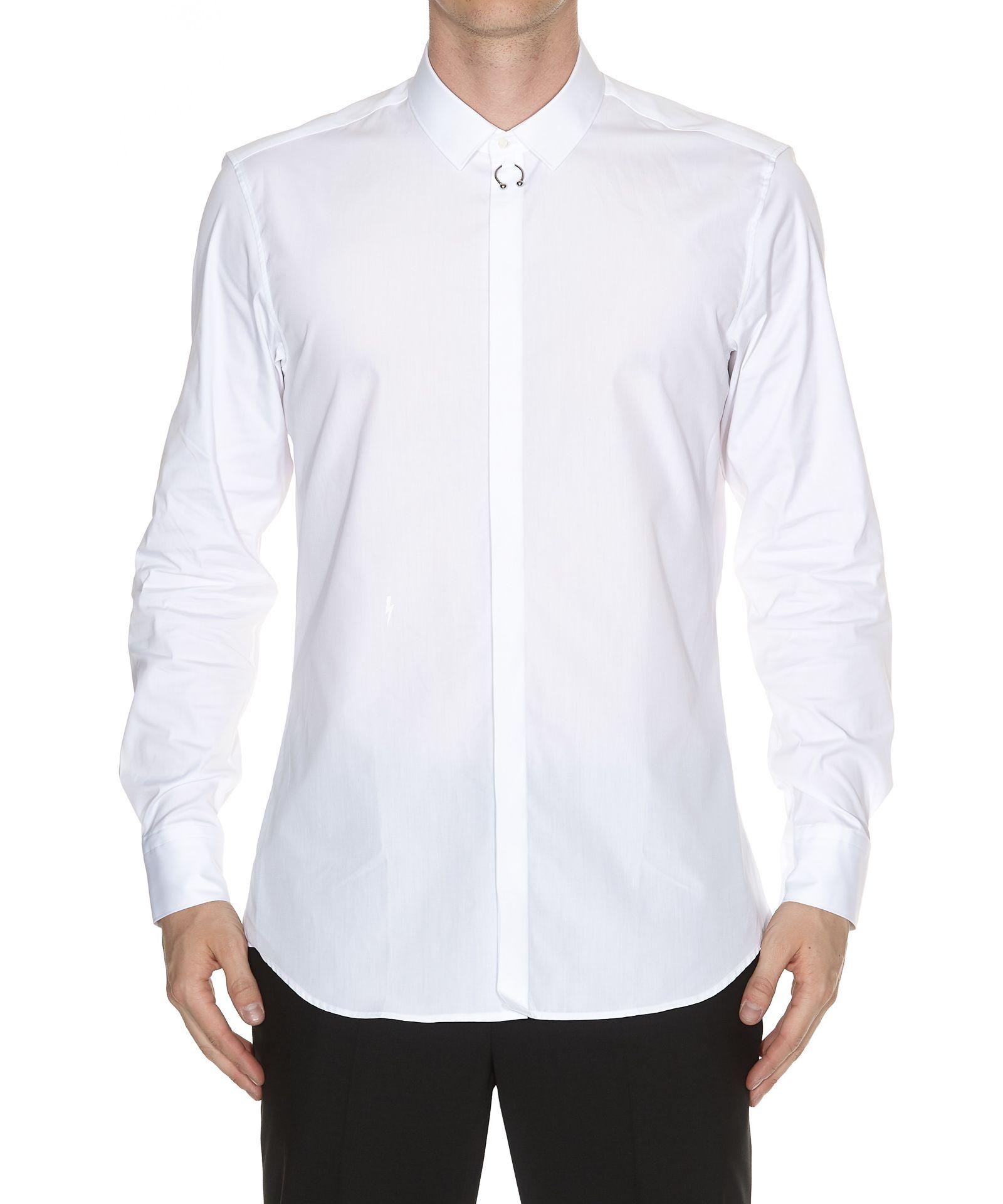Low Price Fee Shipping Hot Sale Cheap Price piercing shirt - White Neil Barrett IZoFdmBcU