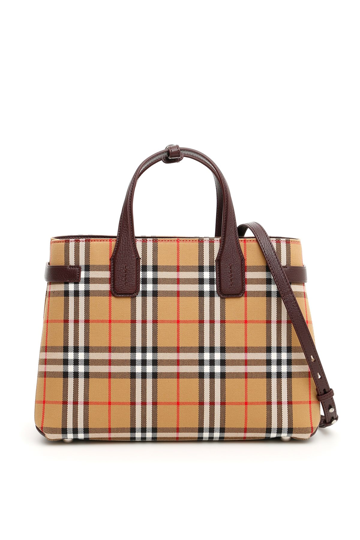 Baby Banner Vintage Check Leather Satchel