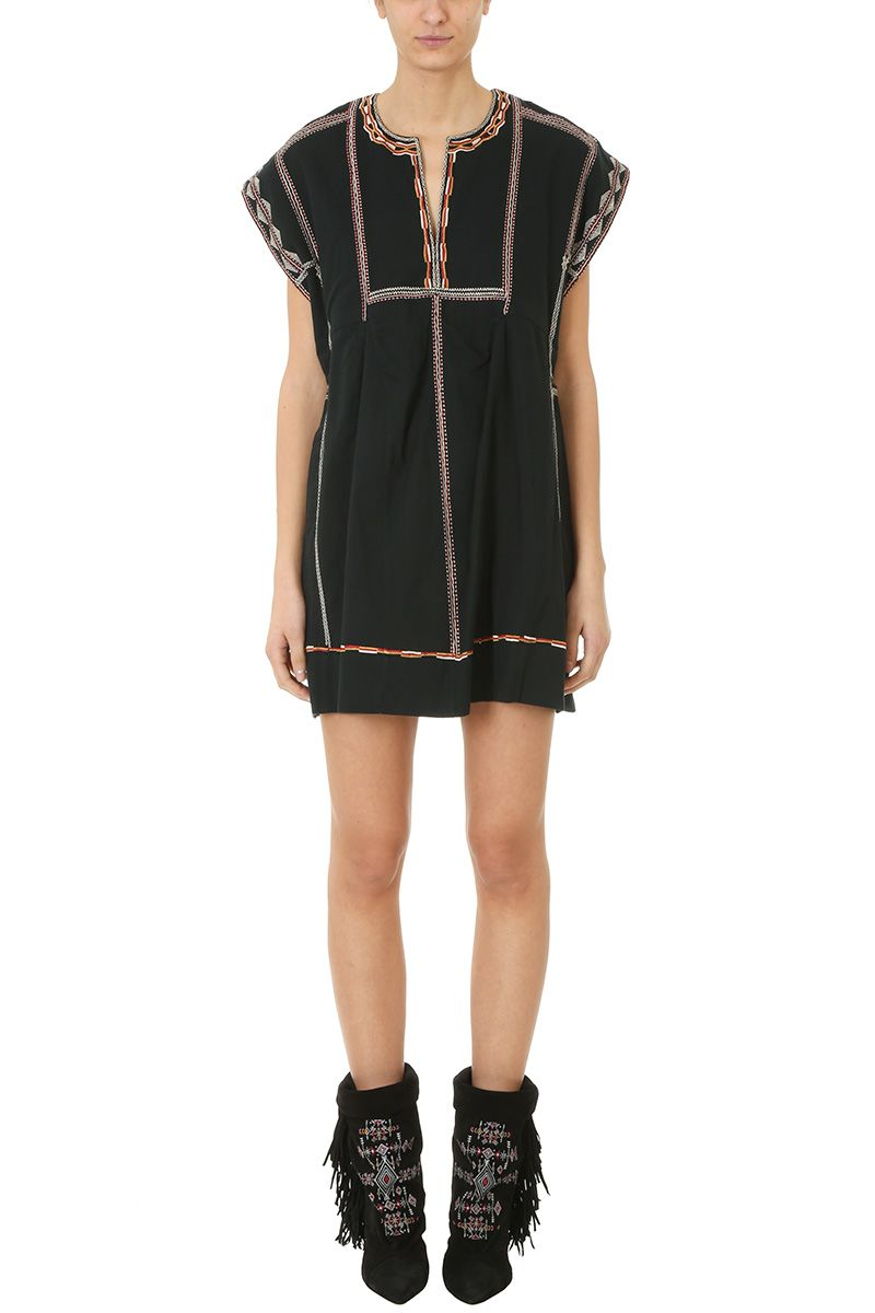 Belissa embroidered dress - Black Isabel Marant From China Cheap Online PHm5Qf