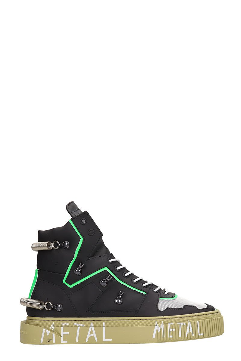 GIENCHI Hypnos 3.0 Black And Green Sneakers