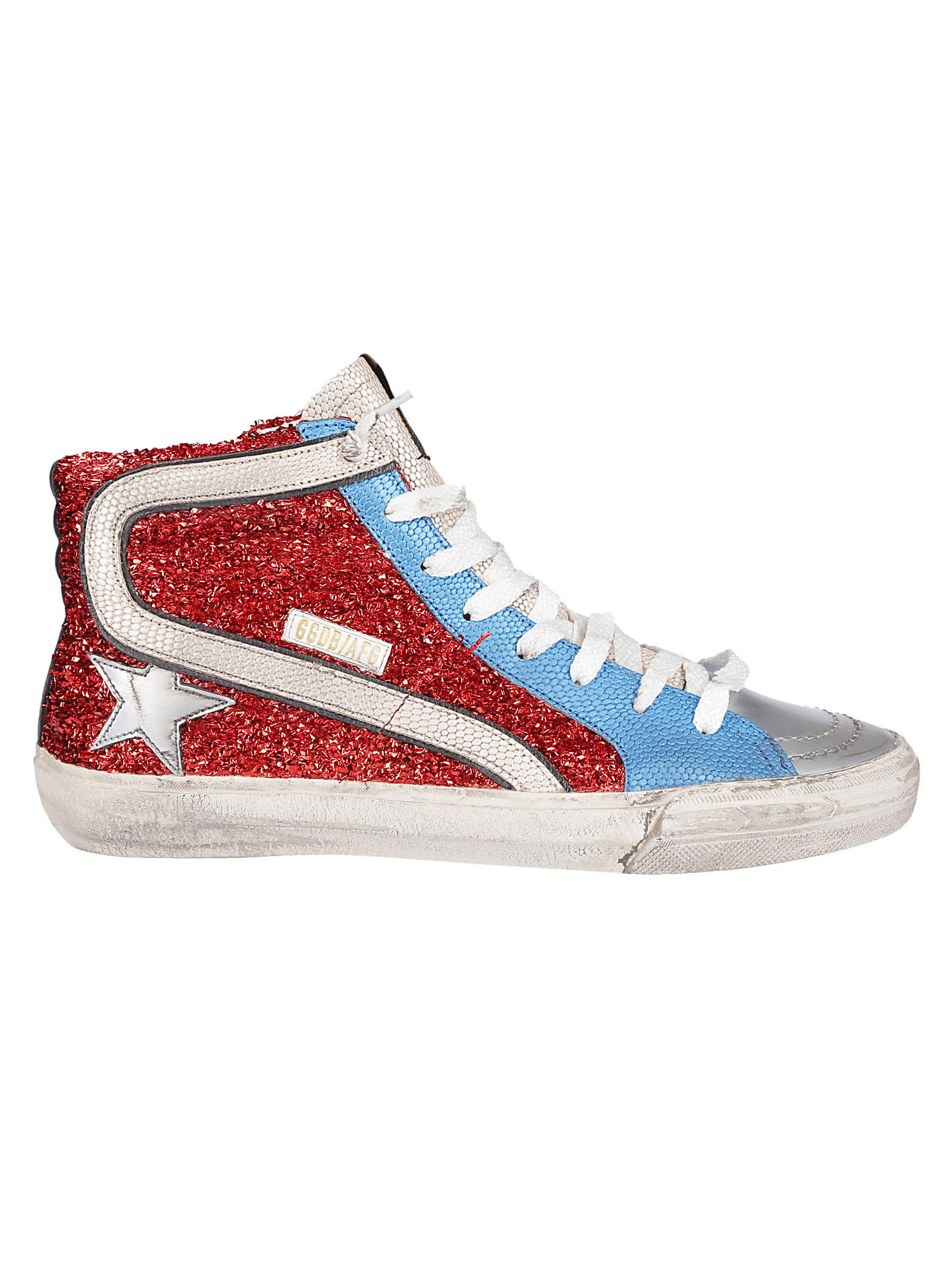 SLIDE HIGH TOP SNEAKERS