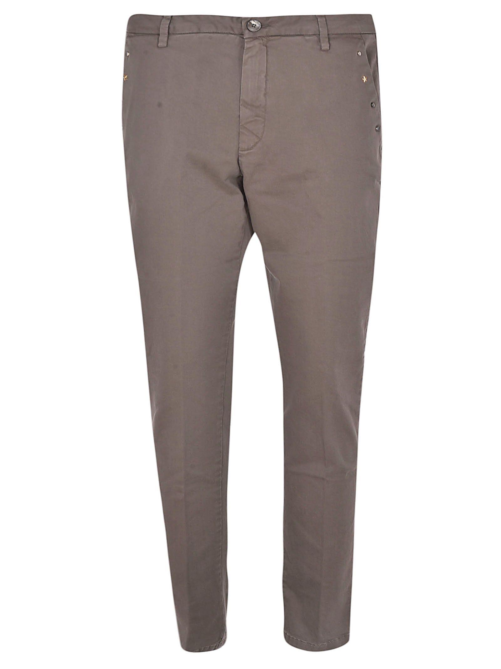 AGLINI Studded Trousers in Dir 32Gw