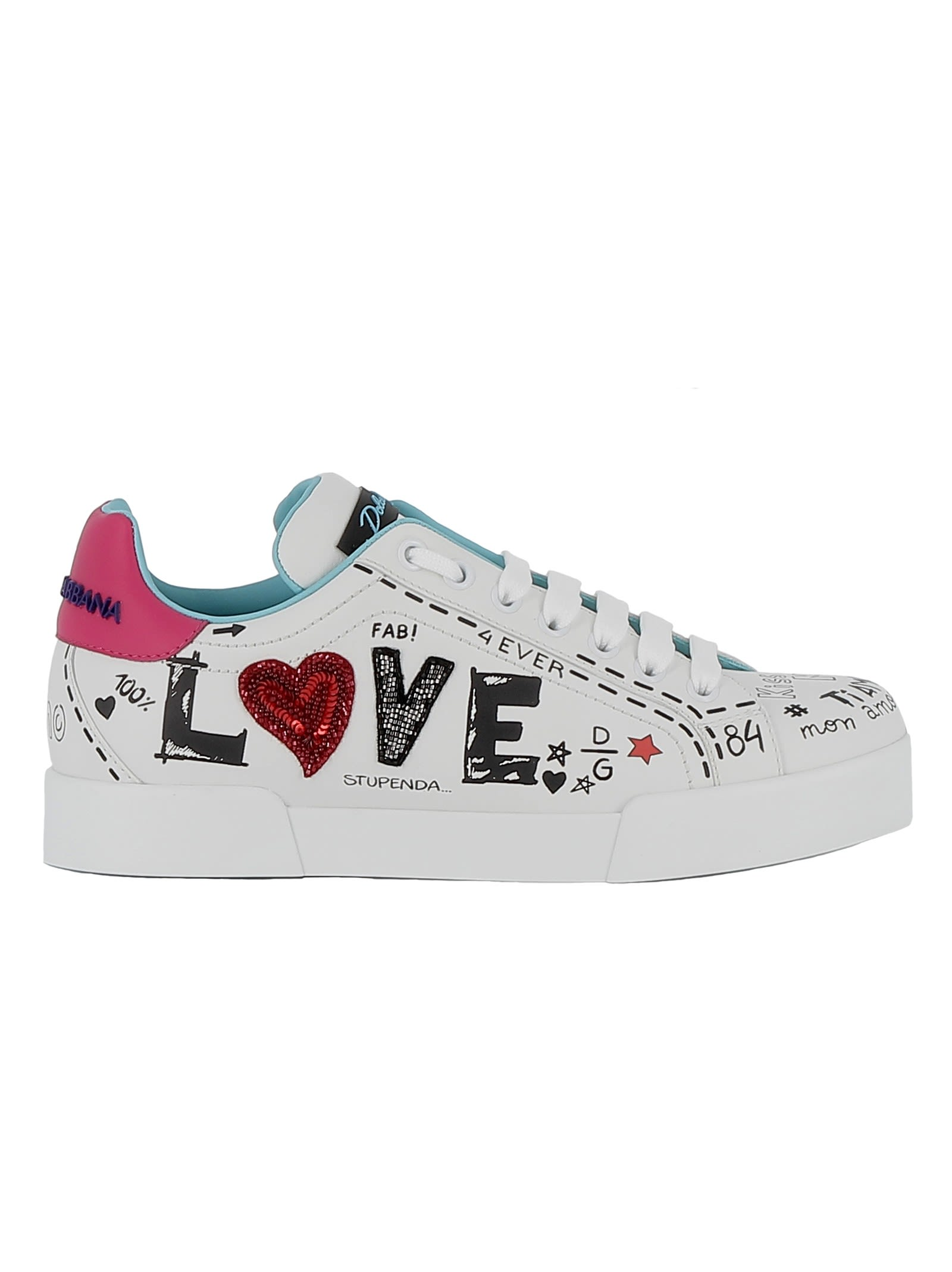 Dolce & Gabbana Multicolor Leather Sneakers thumbnail