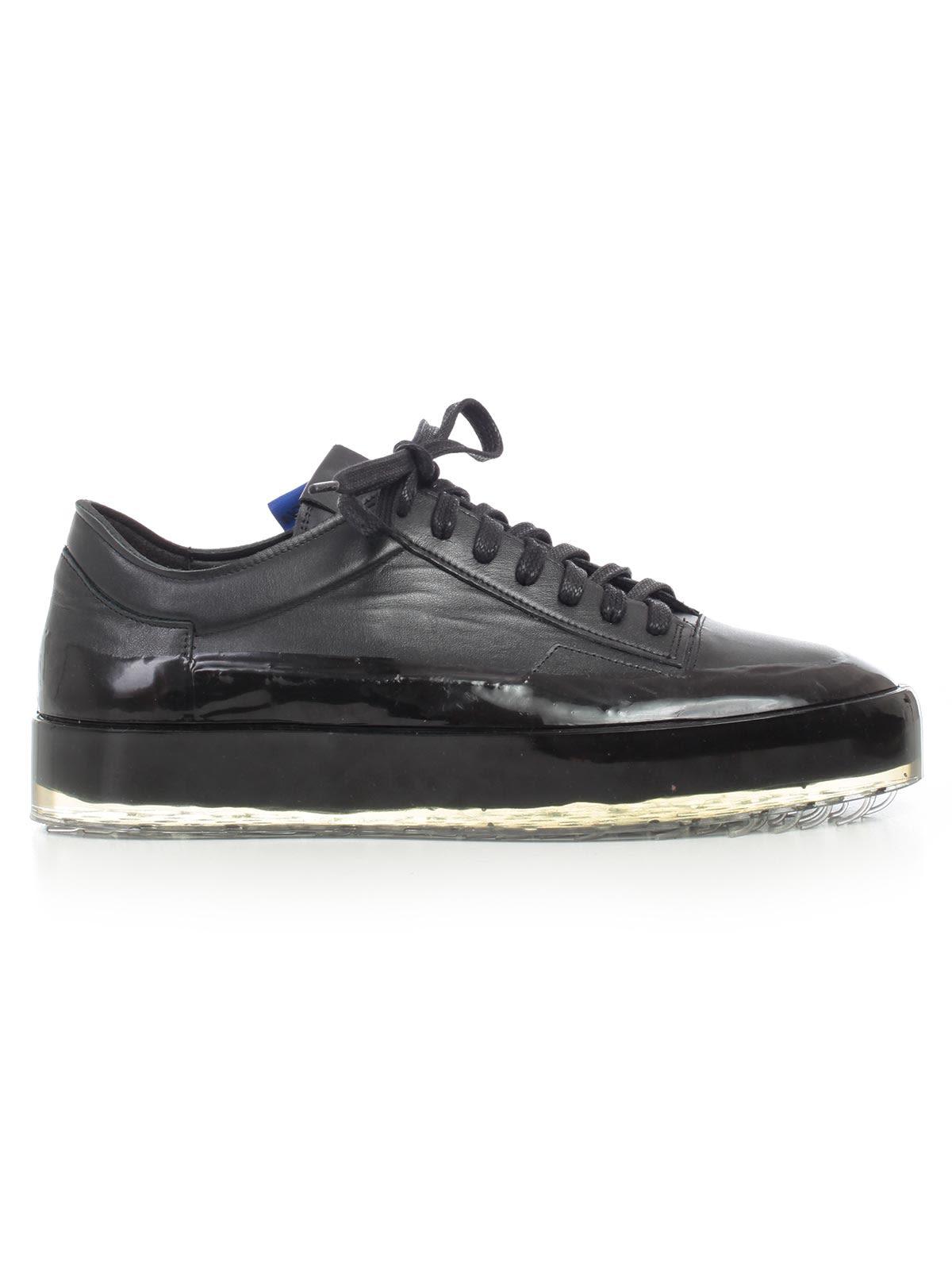 OXS RUBBER SOUL Rbrsl Rubber Soul Paneled Sneakers in Black