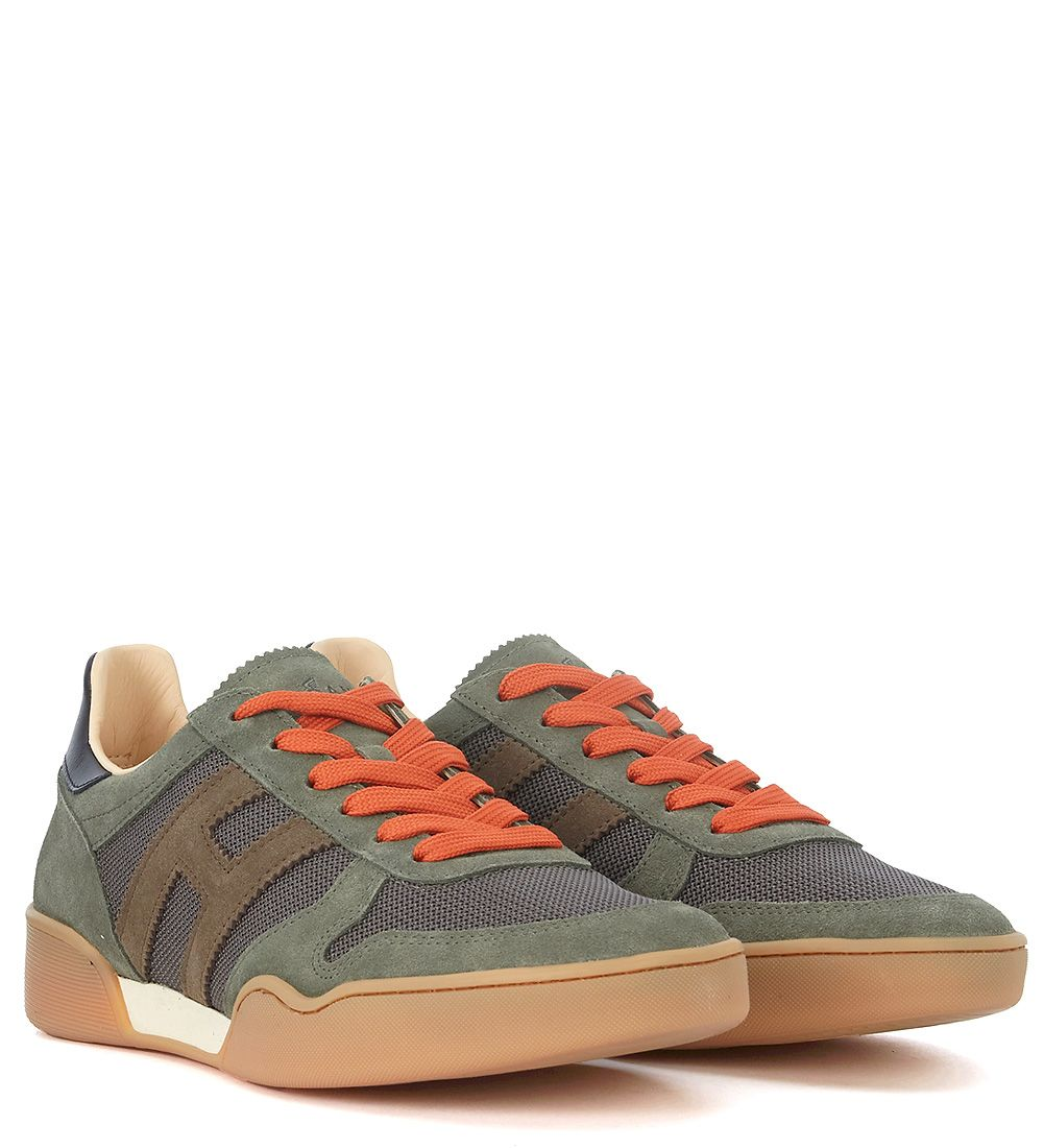 Hogan H357 Daim Vert Et Chaussures De Sport Mesh LpxKwa