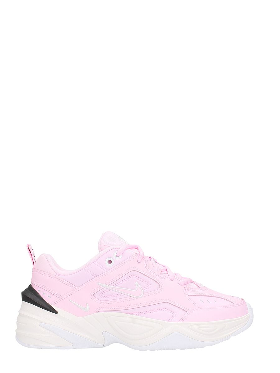 M2K Tekno Leather And Neoprene Sneakers, Prism Pink/ Prism Pink