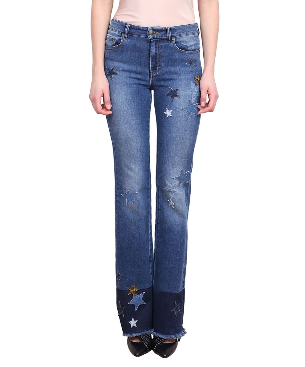 RED Valentino Embroidered Flare Jeans 10047887