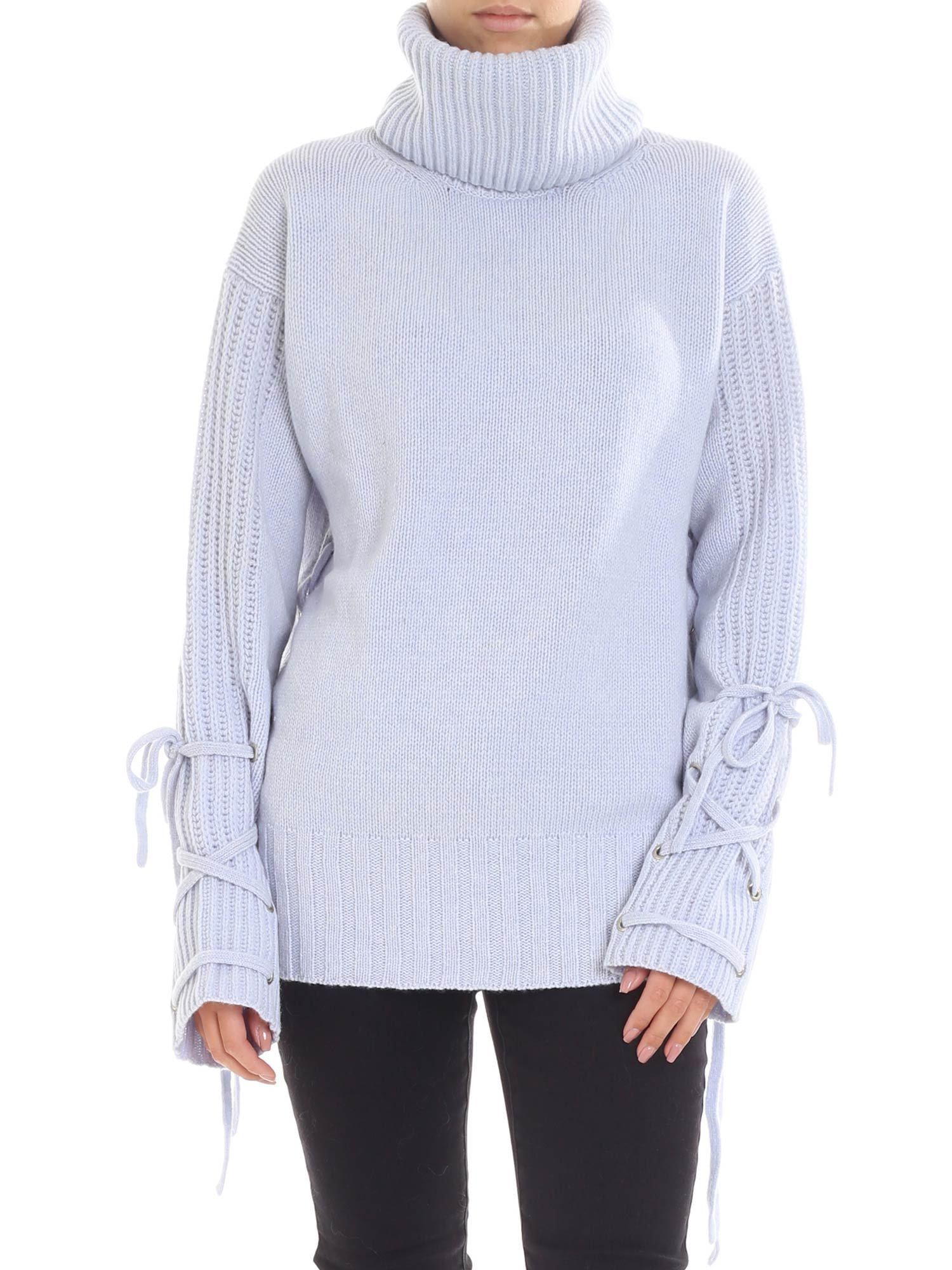 mcq alexander mcqueen -  Lace Up Sweater